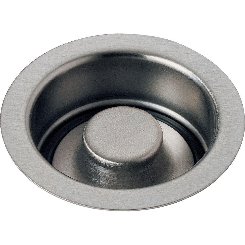 Delta Classic Stainless Steel Finish Kitchen Disposal and Flange Stopper 536701