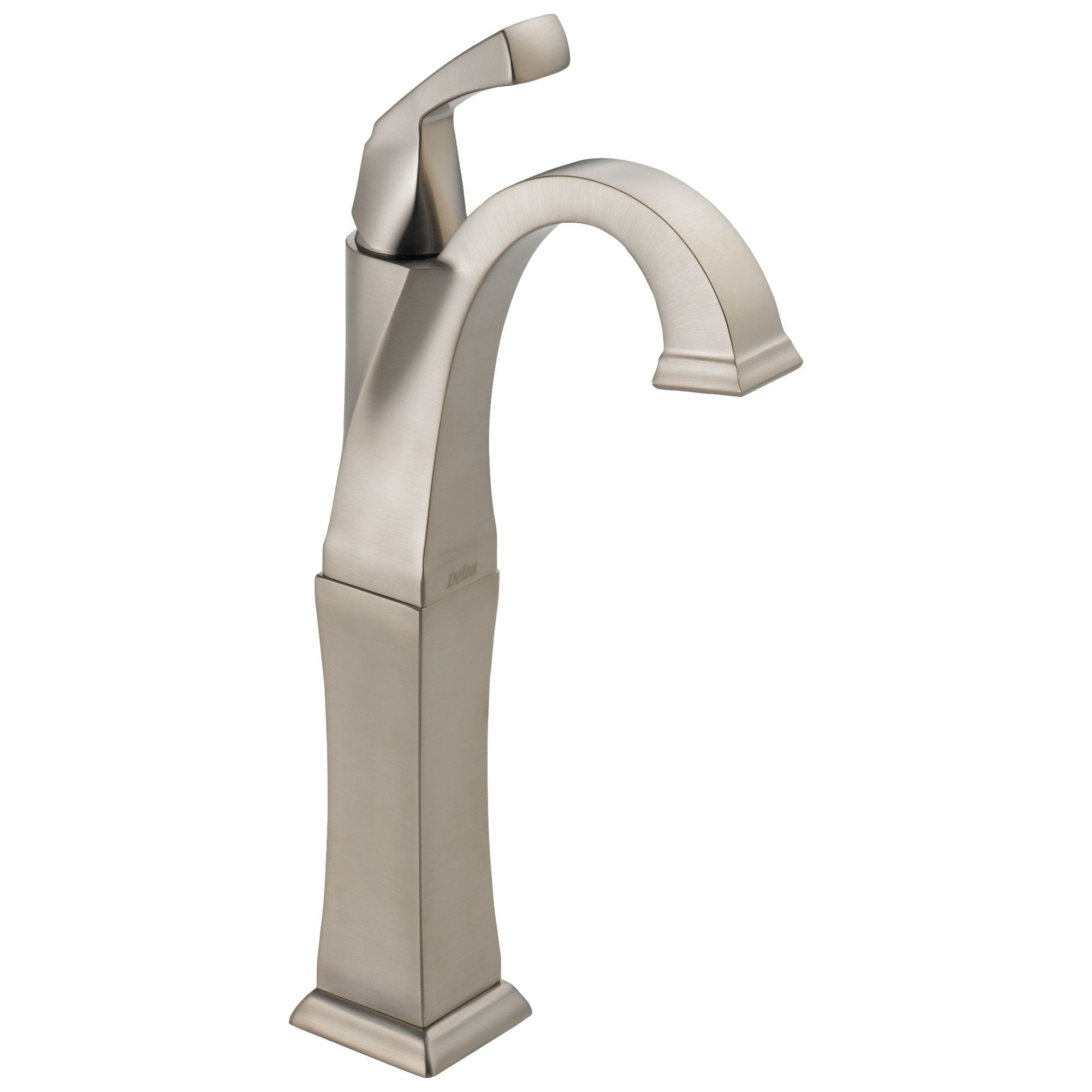 Delta Dryden Collection Stainless Steel Finish Single Handle One Hole Tall Vessel Sink Bathroom Faucet D751SPDST
