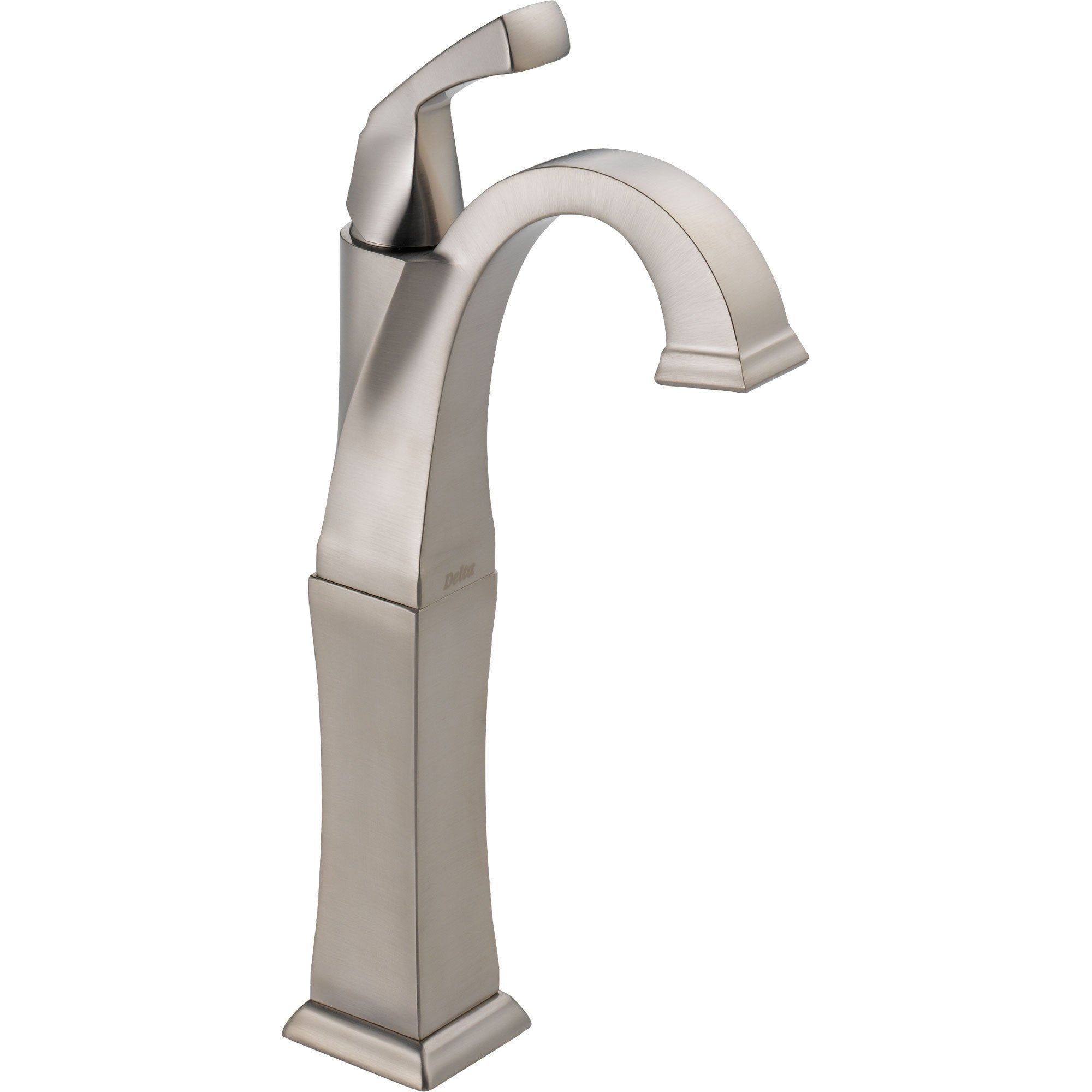Delta Dryden 1 Handle Stainless Steel Finish Vessel Sink Bathroom Faucet 495520