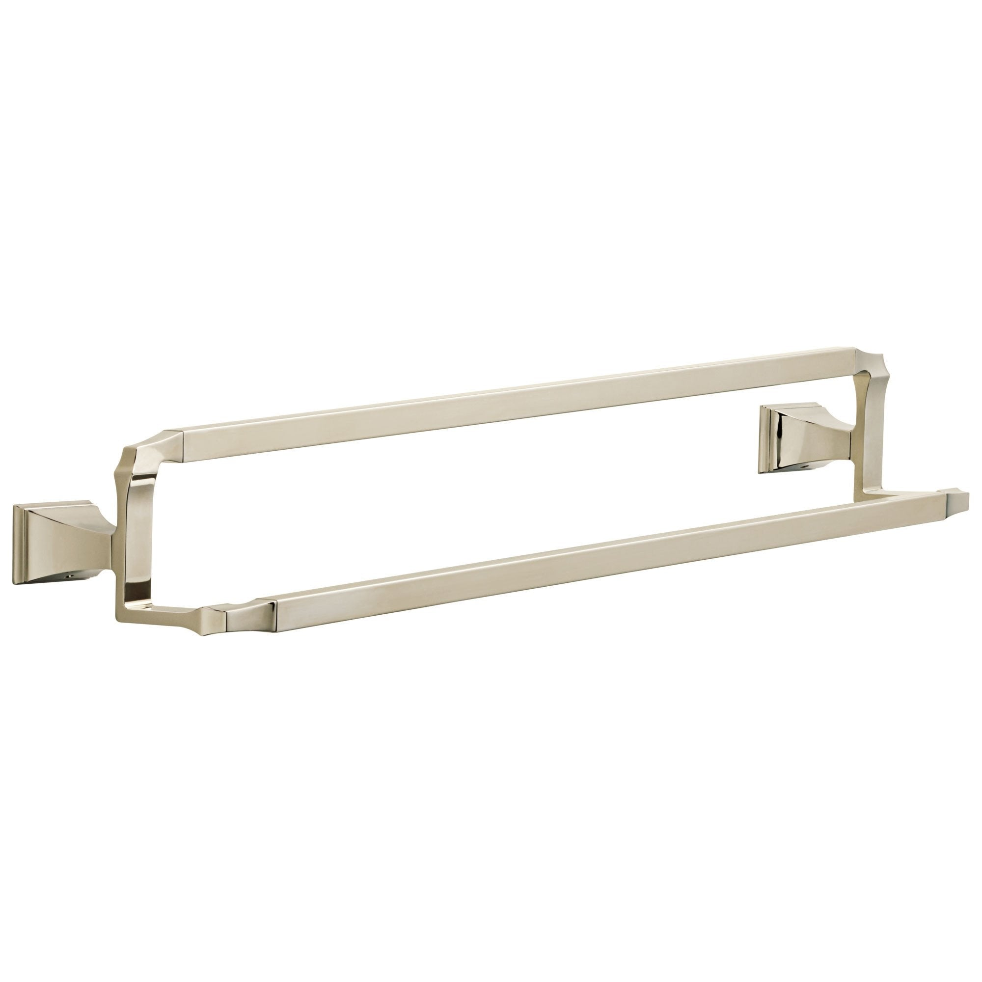 "Delta Dryden Collection Polished Nickel Finish Wall Mounted 24"" Double Towel Bar D75125PN"