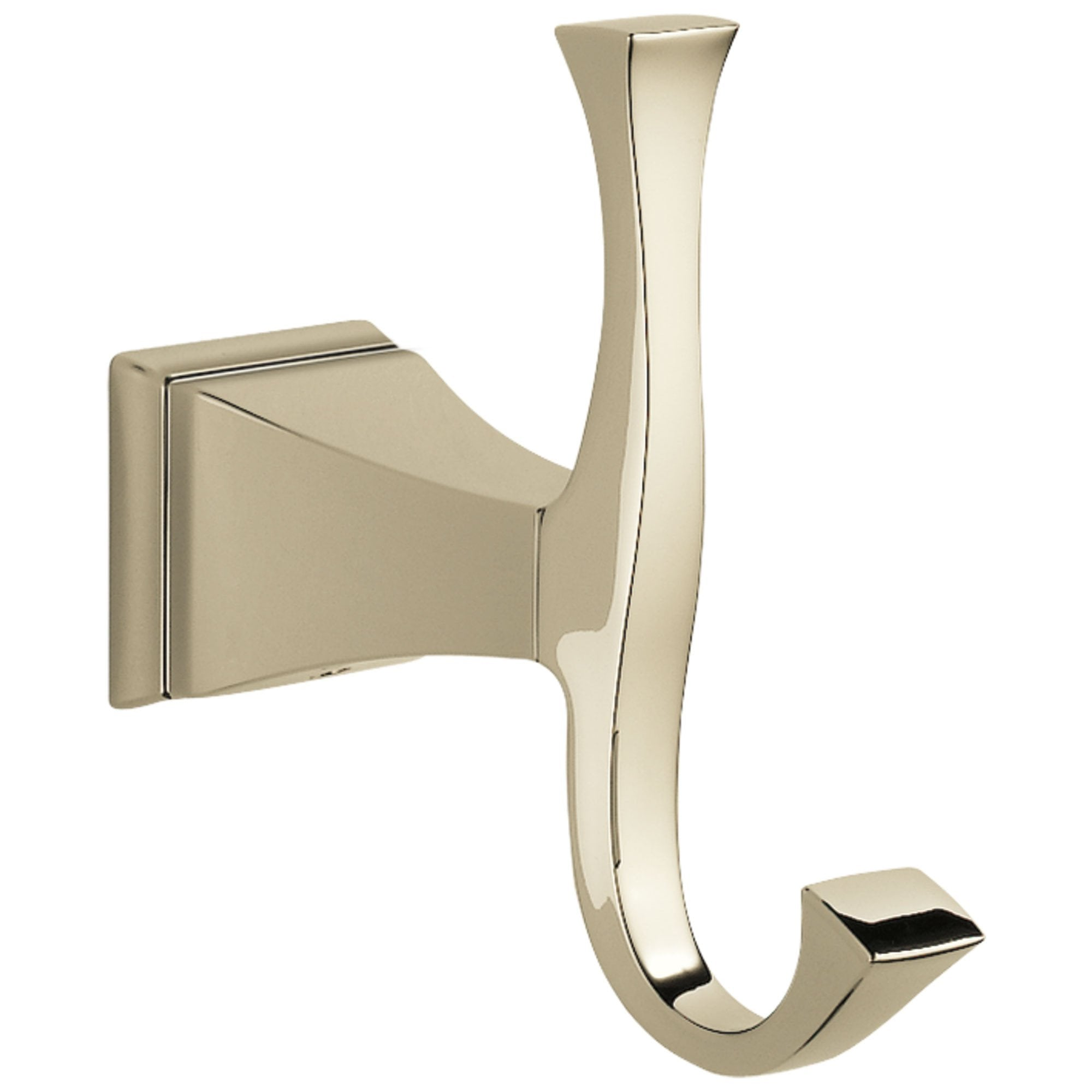 Delta Dryden Collection Polished Nickel Finish Wall Mount Double Robe Hook D75135PN