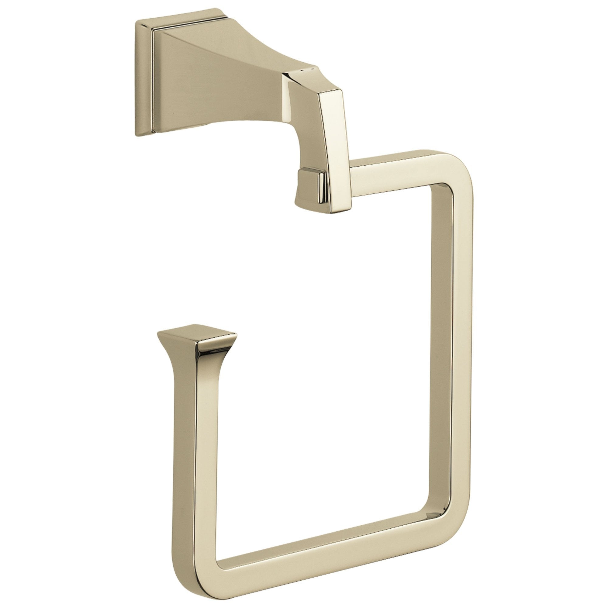 Delta Dryden Collection Polished Nickel Finish Wall Mounted Hand Towel Ring D75146PN
