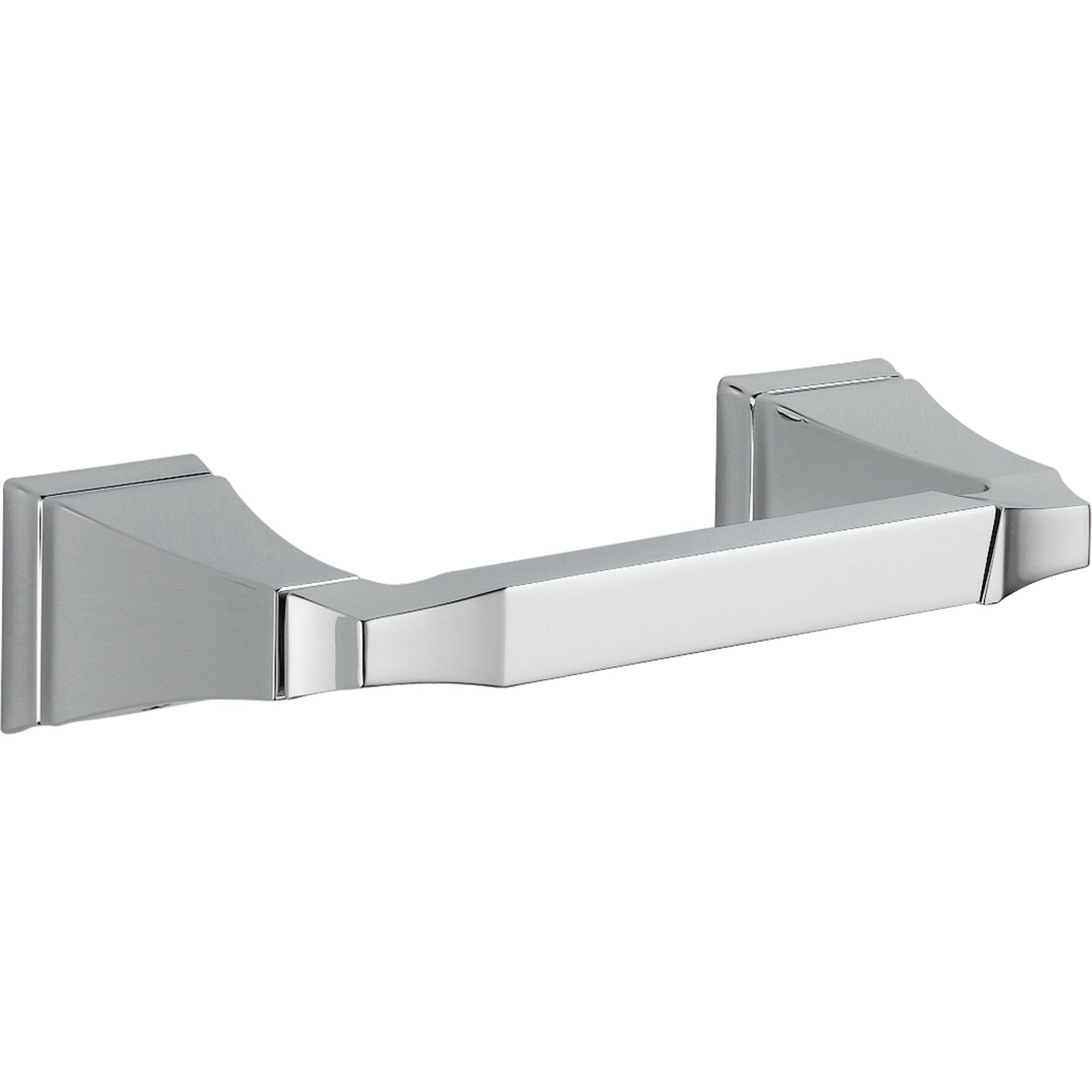 Delta Dryden Modern Double Post Toilet Paper Holder in Chrome 455241