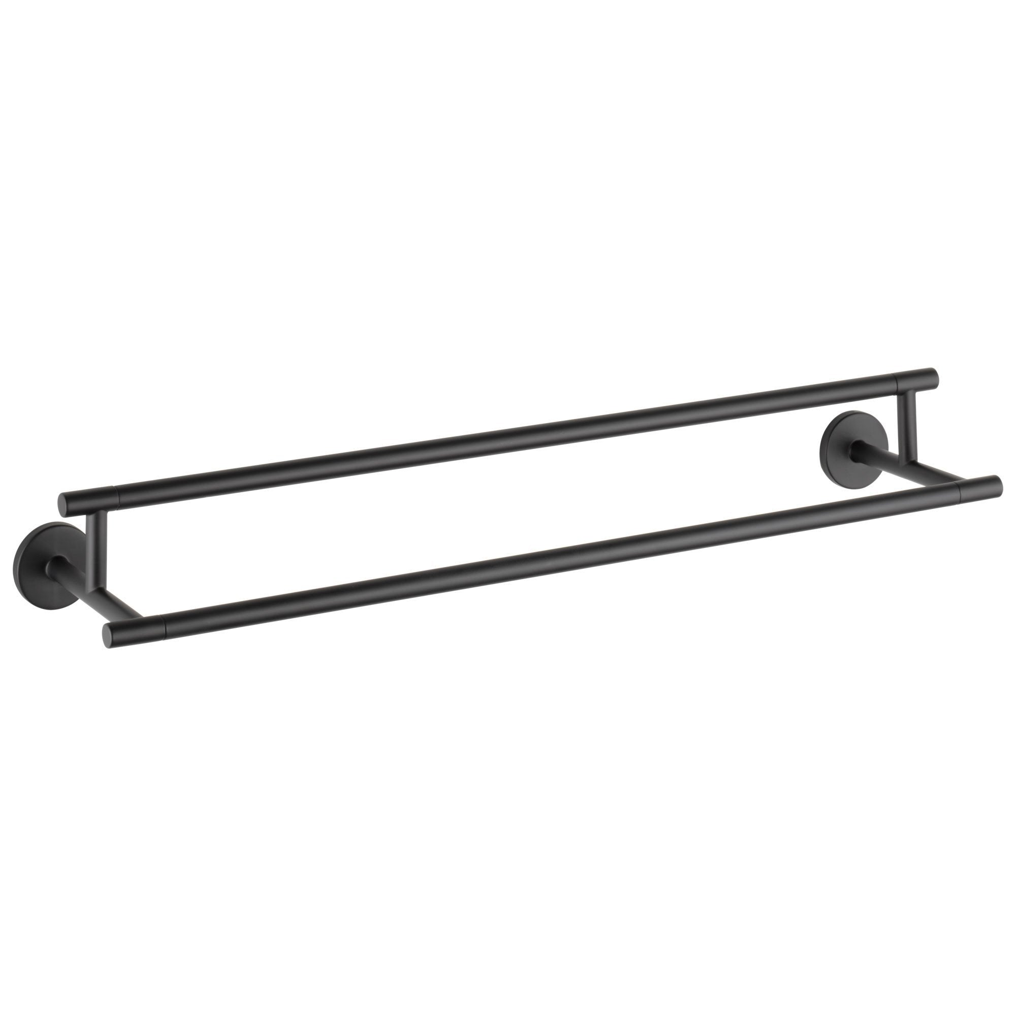 "Delta Trinsic Collection Matte Black Finish Modern 24"" Wall Mounted Double Towel Bar D75925BL"