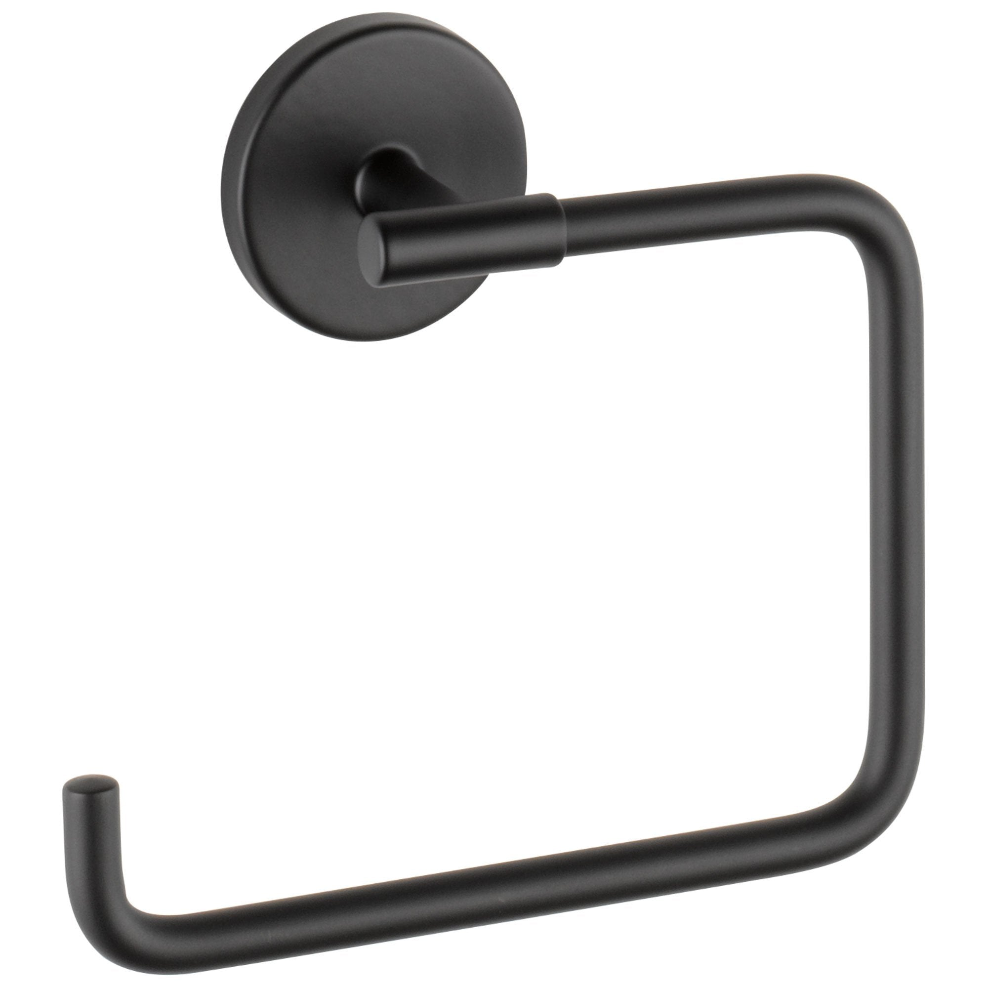 Delta Trinsic Collection Matte Black Finish Wall Mount Rectangular Hand Towel Ring D759460BL
