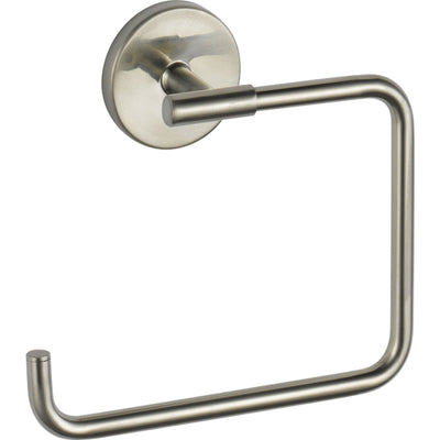 delta stainless steel finish trinsic bathroom faucet, towel ring