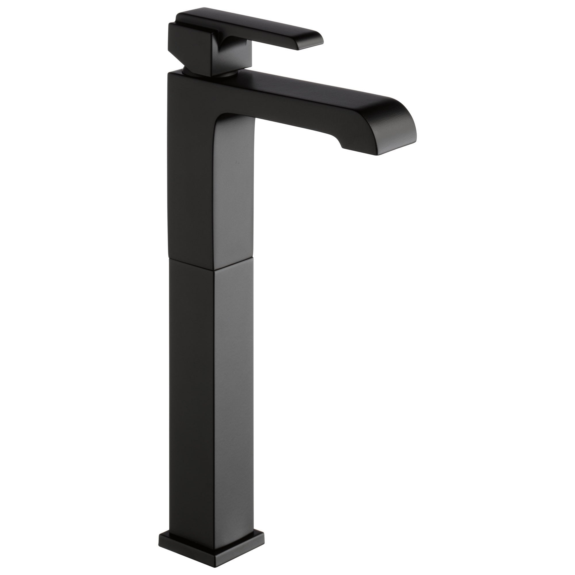 Delta Ara Collection Matte Black Finish Single Handle Tall Vessel Bathroom Lavatory Sink Faucet D767LFBL