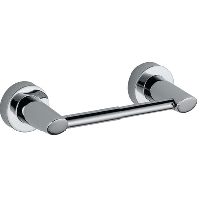 "Delta Compel Chrome STANDARD Bathroom Accessory Set Includes: 24"" Towel Bar, Toilet Paper Holder, Robe Hook, and Towel Ring D10072AP"
