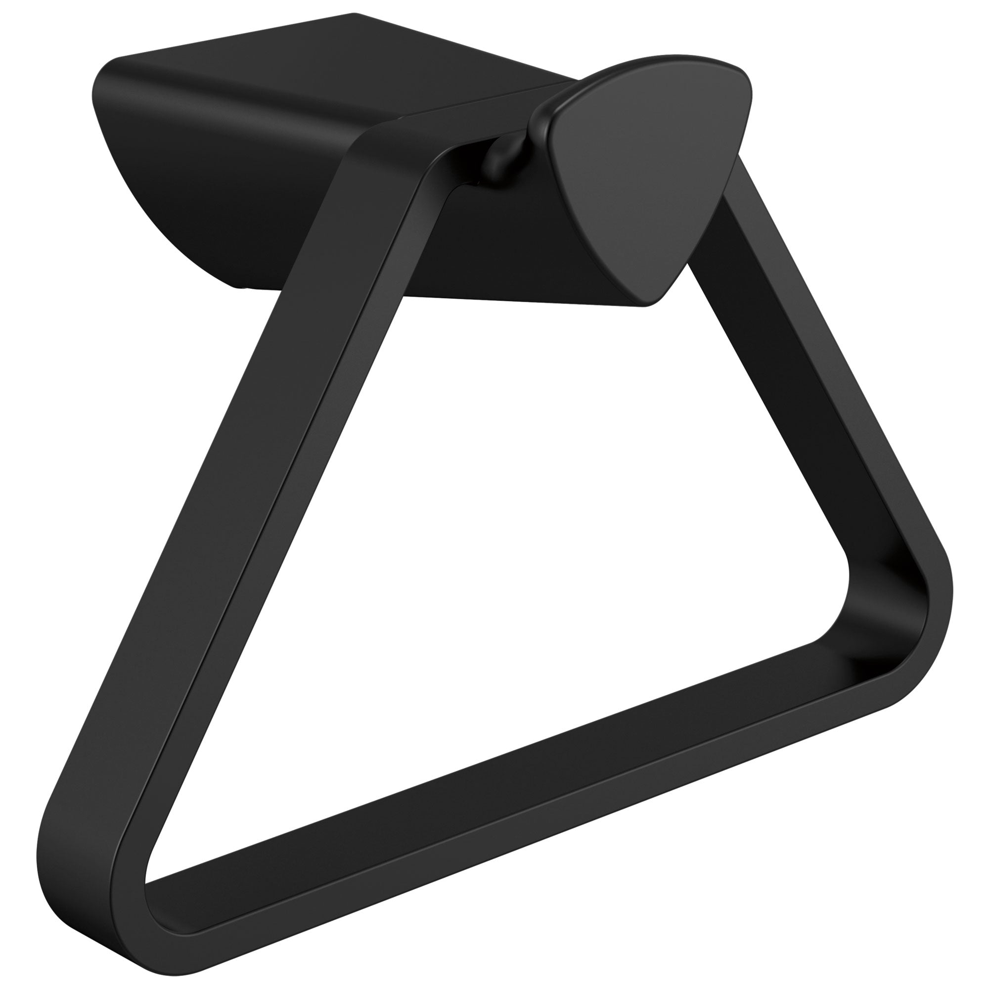 Delta Zura Matte Black Finish Triangular Hand Towel Ring Holder D77446BL