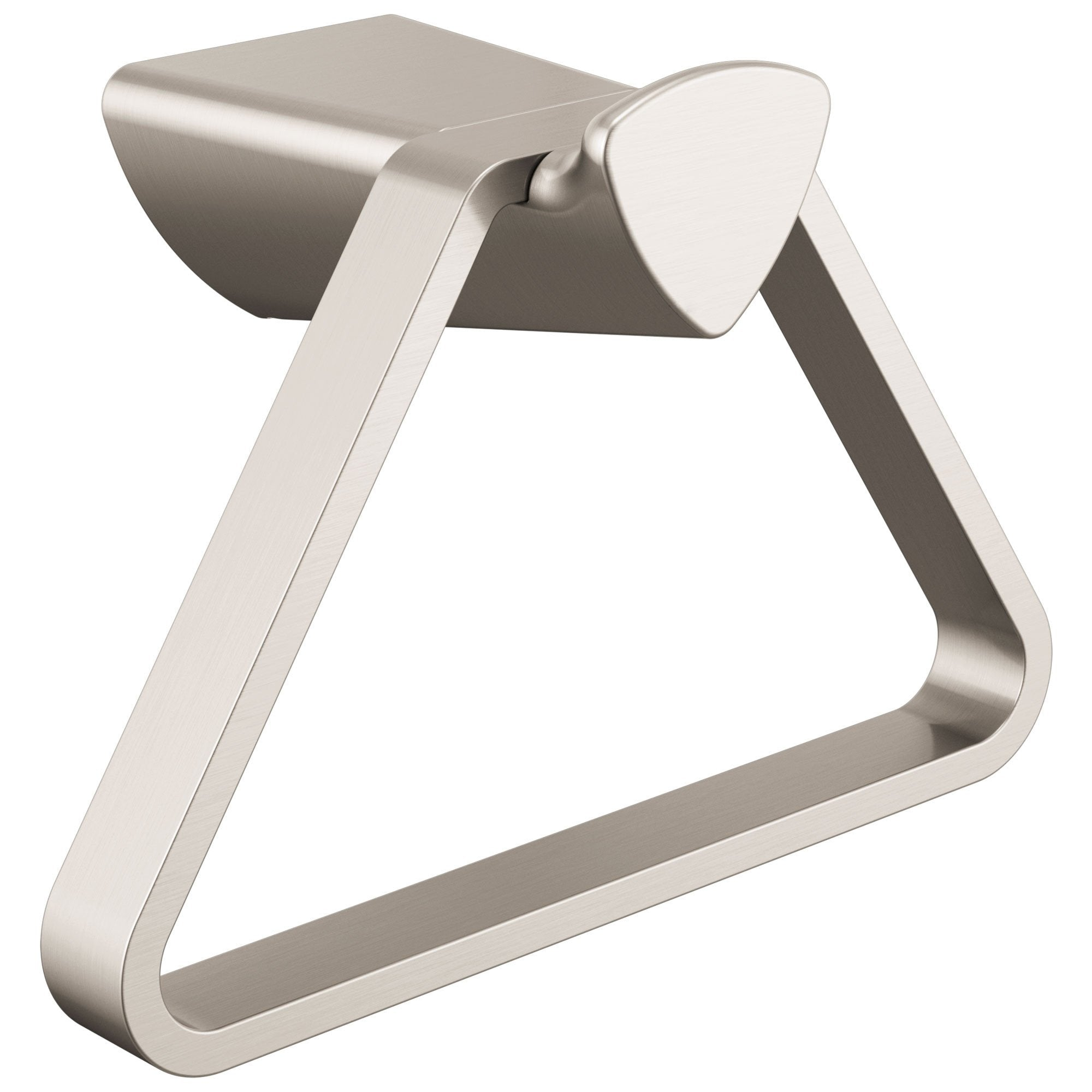 Delta Zura Collection Stainless Steel Finish Modern Triangular Wall Mount Hand Towel Holder D77446SS