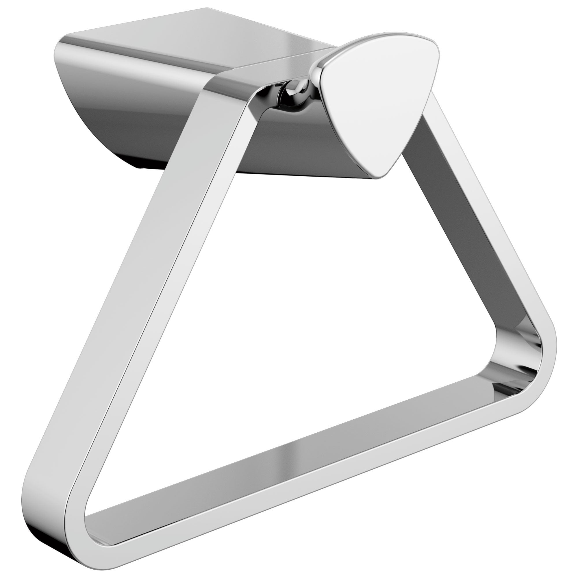 Delta Zura Collection Chrome Finish Modern Triangular Wall Mounted Hand Towel Holder D77446
