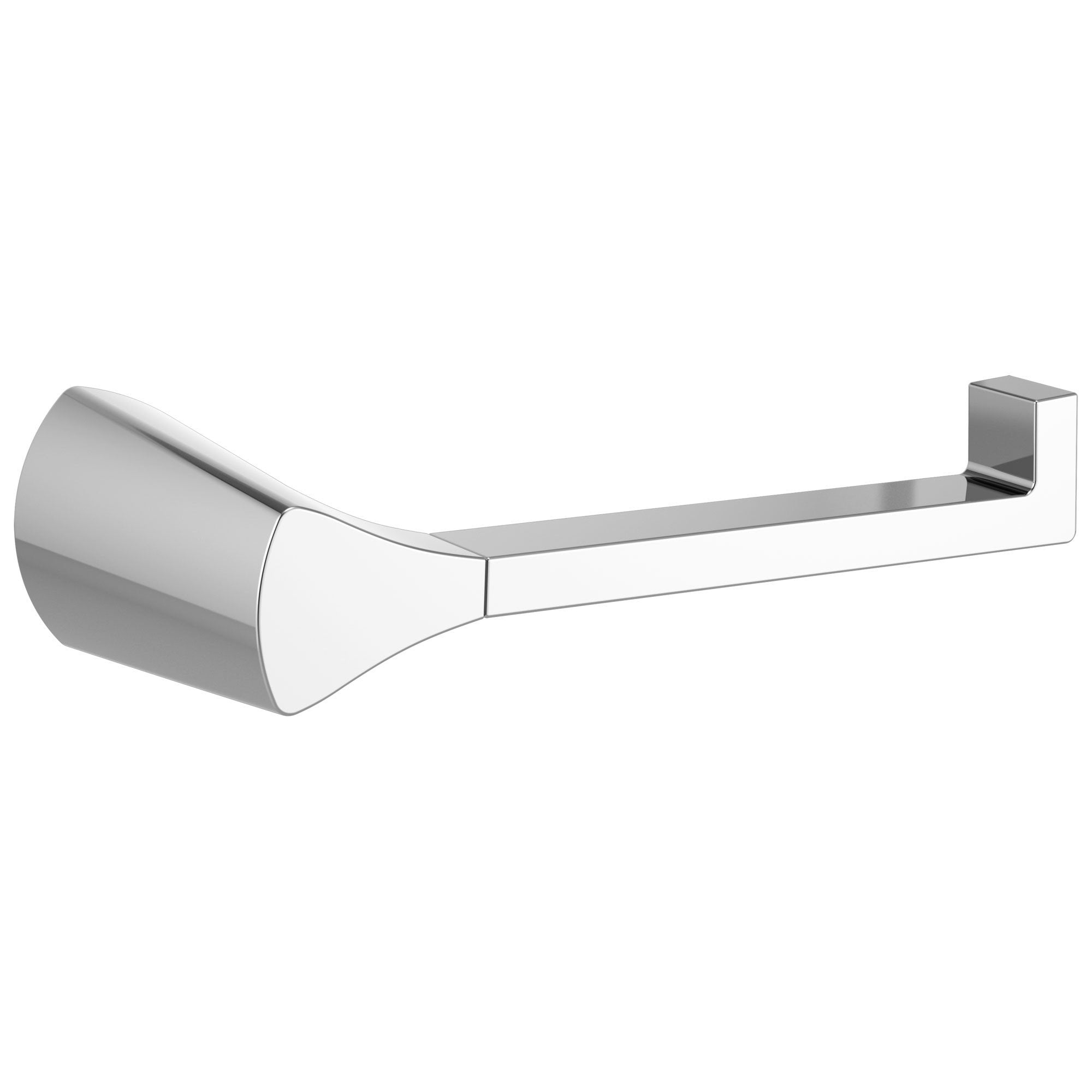 Delta Zura Collection Chrome Finish Modern Horizontal Single Post Wall Mount Toilet Tissue Paper Holder D774500