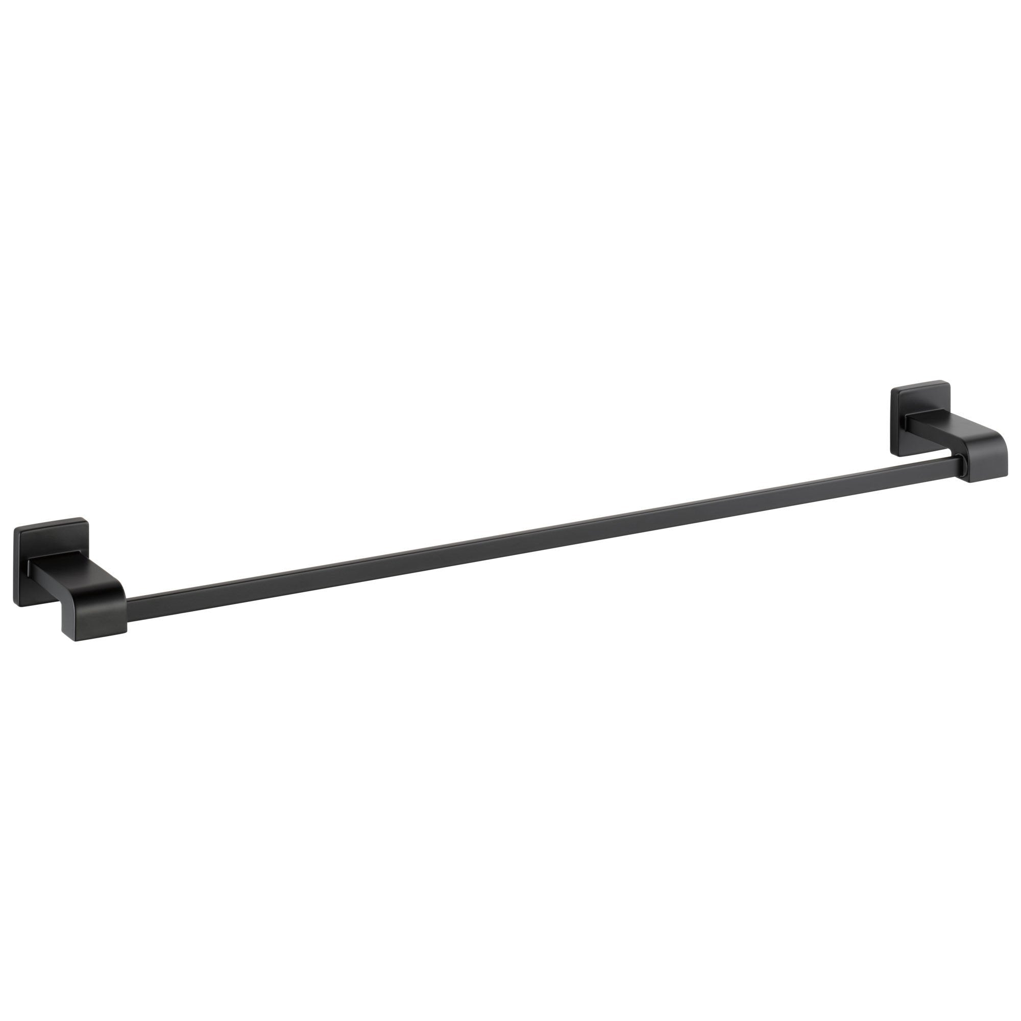 "Delta Ara Collection Matte Black Finish Wall Mount 30"" Long Single Towel Bar D77530BL"