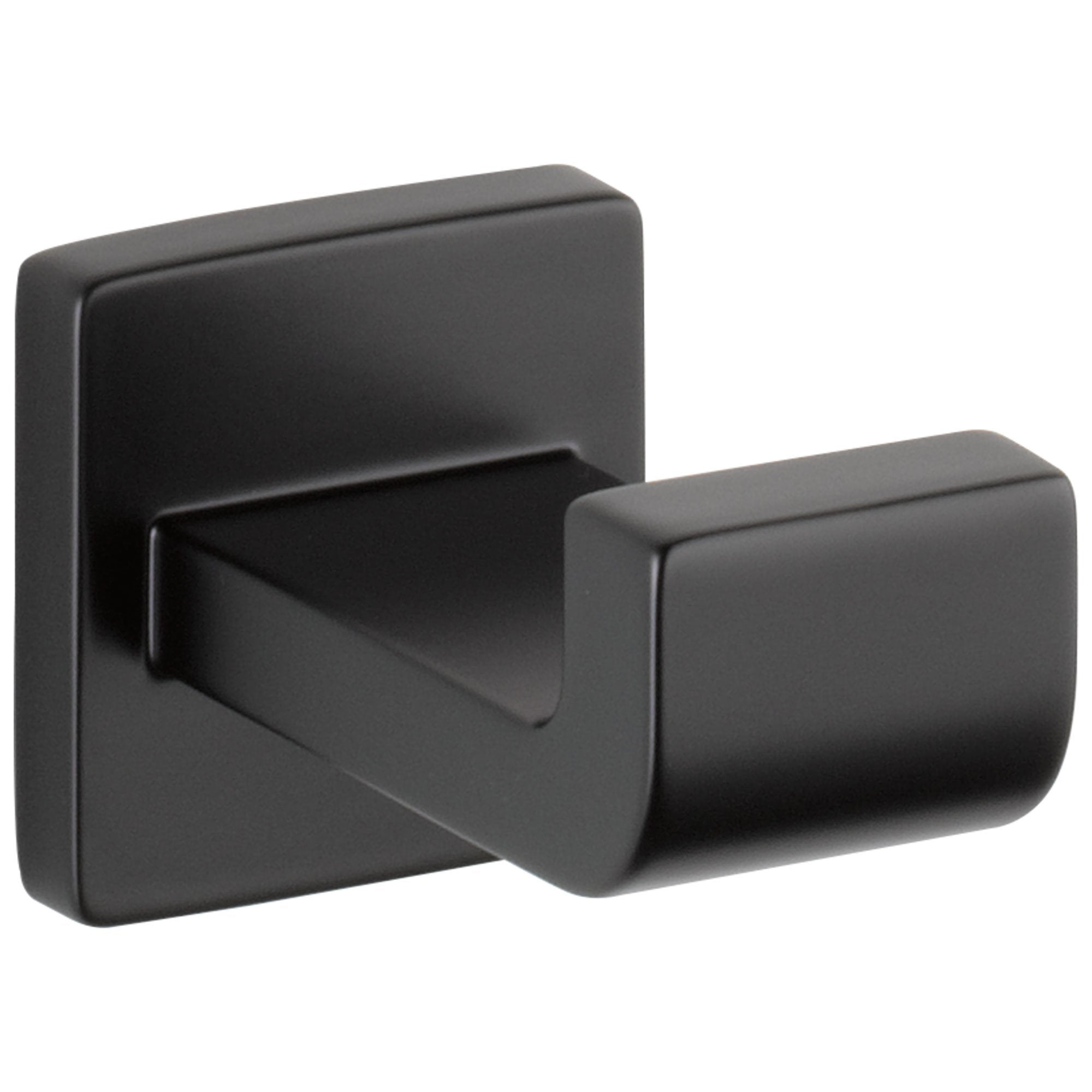 Delta Ara Collection Matte Black Finish Modern Wall Mounted Robe Hook D77535BL