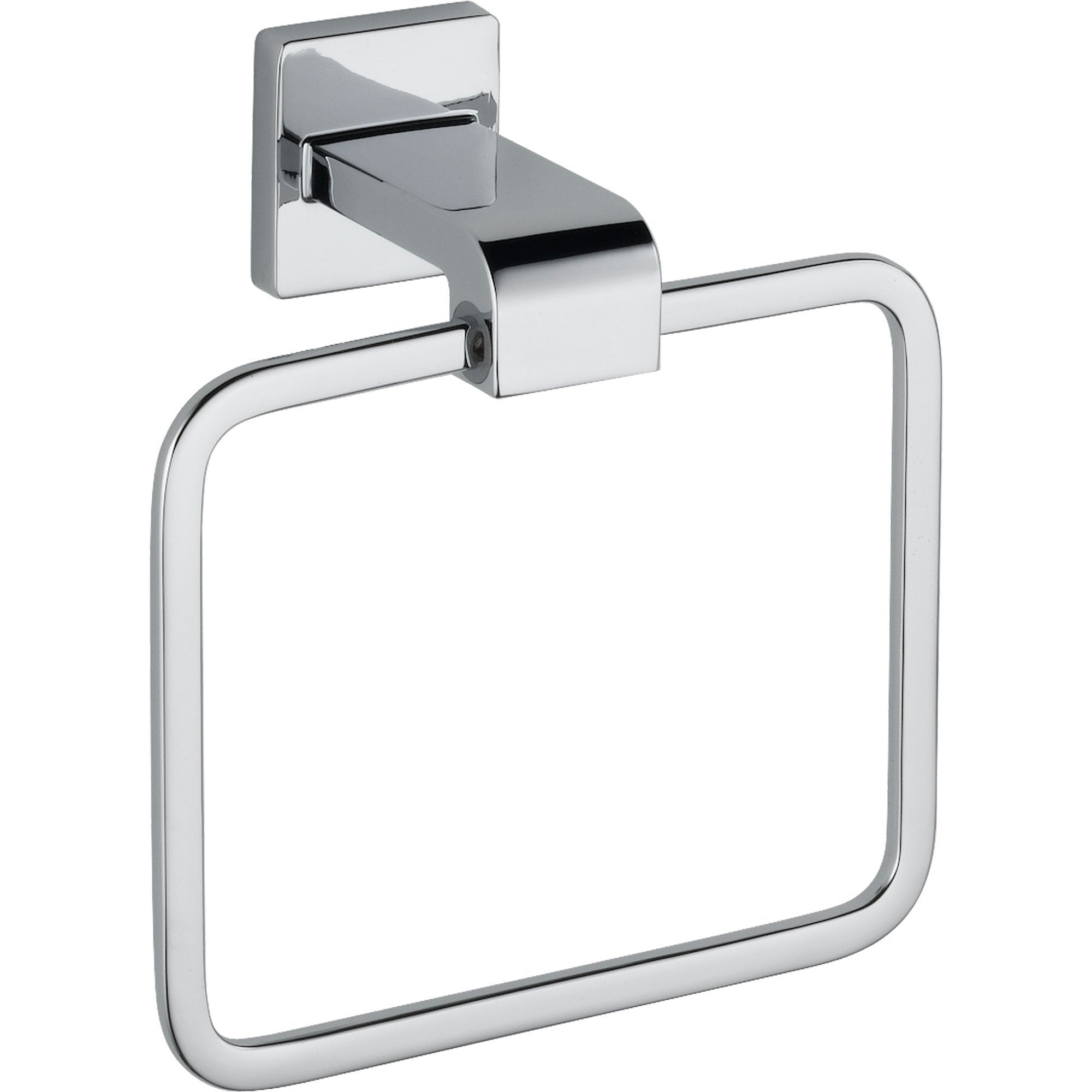 Delta Arzo Modern Chrome Square Hand Towel Ring 353157