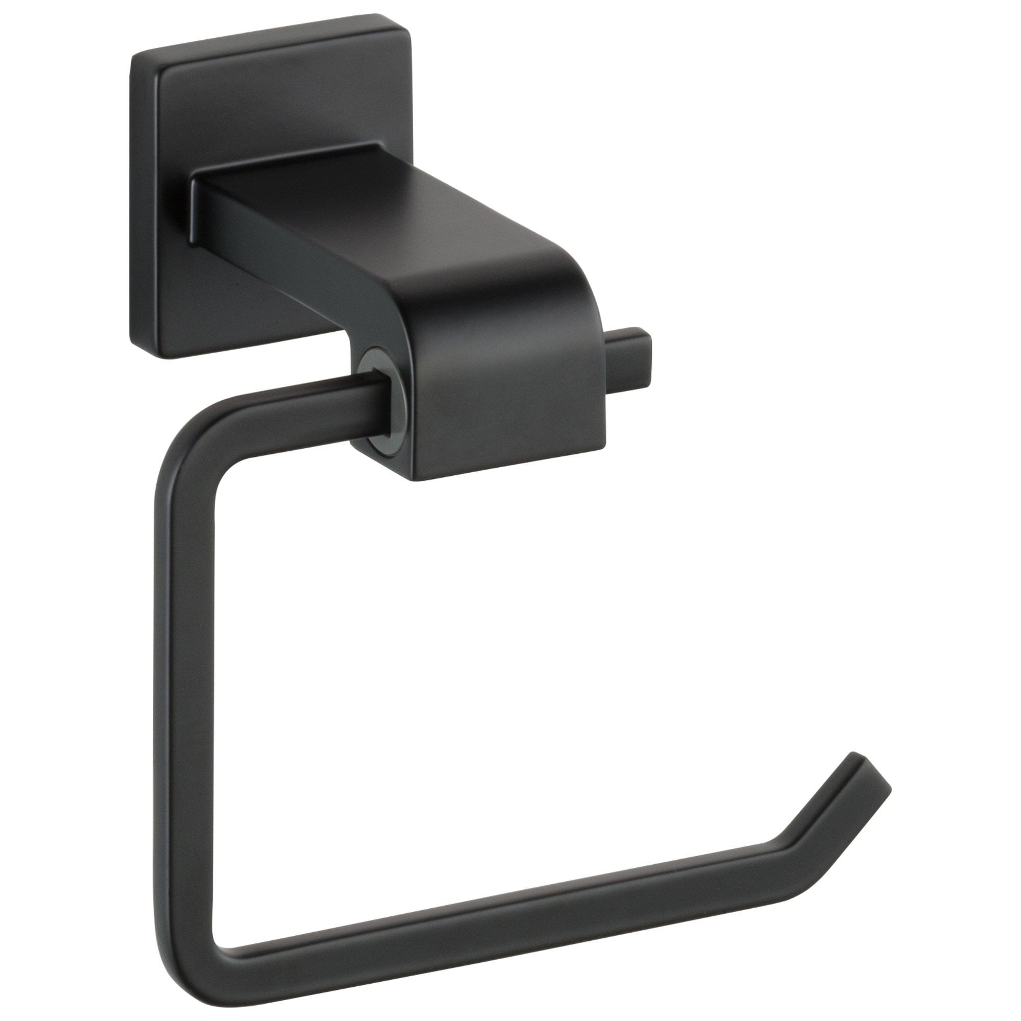 Delta Ara Collection Matte Black Finish Modern Wall Mount Toilet Tissue Paper Holder D77550BL