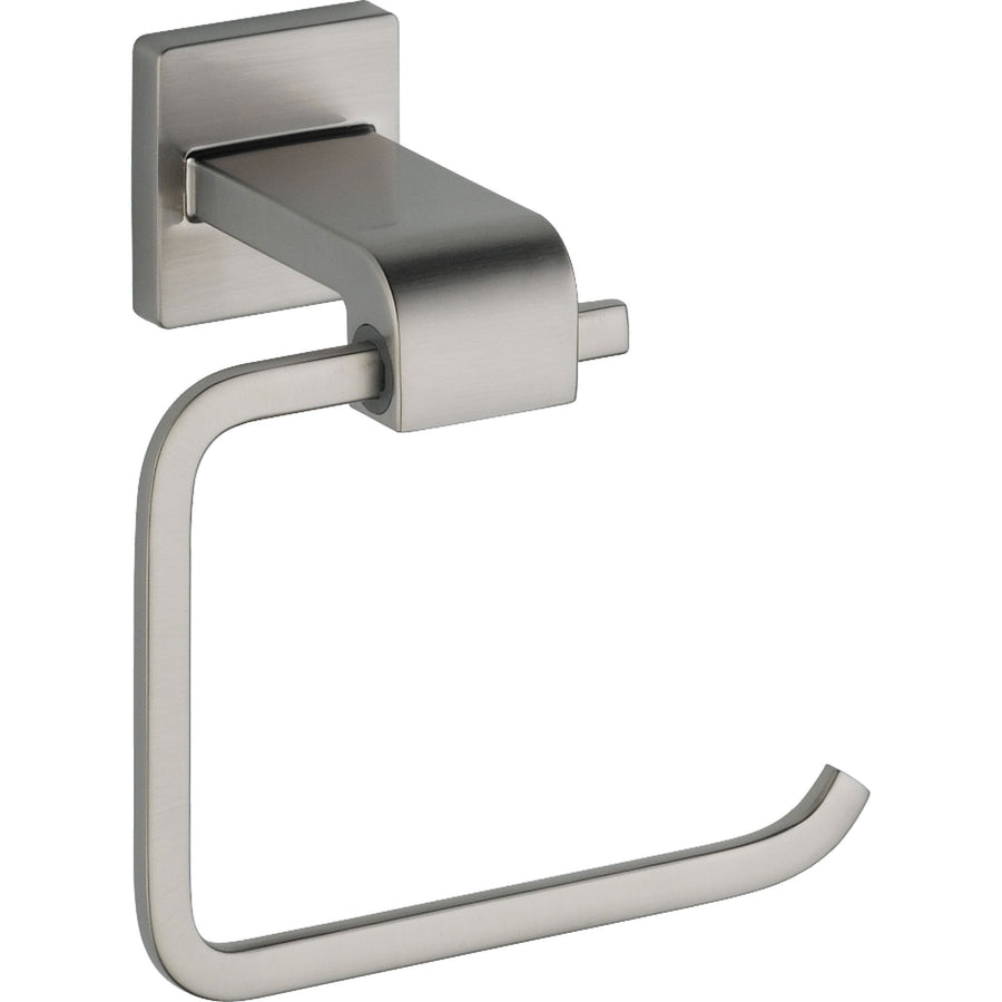 Modern toilet paper holders free standing - Delta Ara Stainless Steel Finish Modern Single Post Toilet Paper Holder 353217