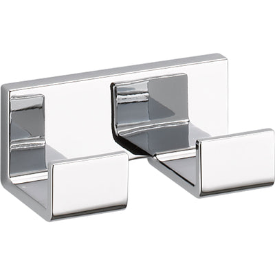 "Delta Vero Chrome DELUXE Accessory Set Includes: 24"" Towel Bar, Paper Holder, Towel Ring, Double Robe Hook, & 24"" Double Towel Bar D10056AP"