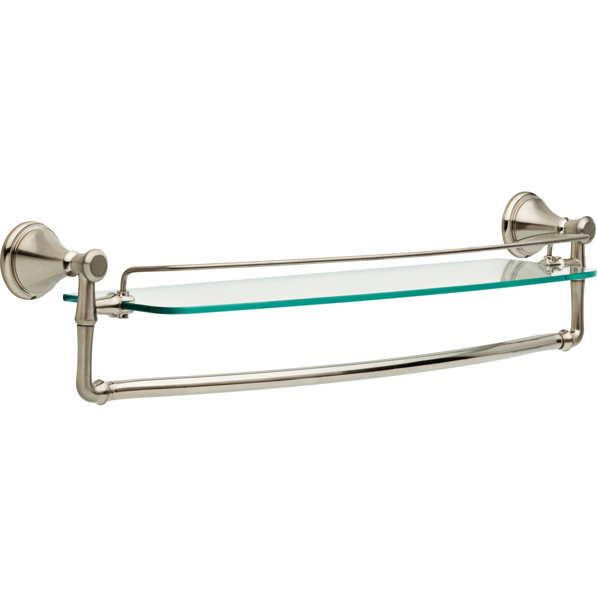 "Delta Cassidy Stainless Steel 24"" Glass Shelf with Removable Towel Bar 638899"