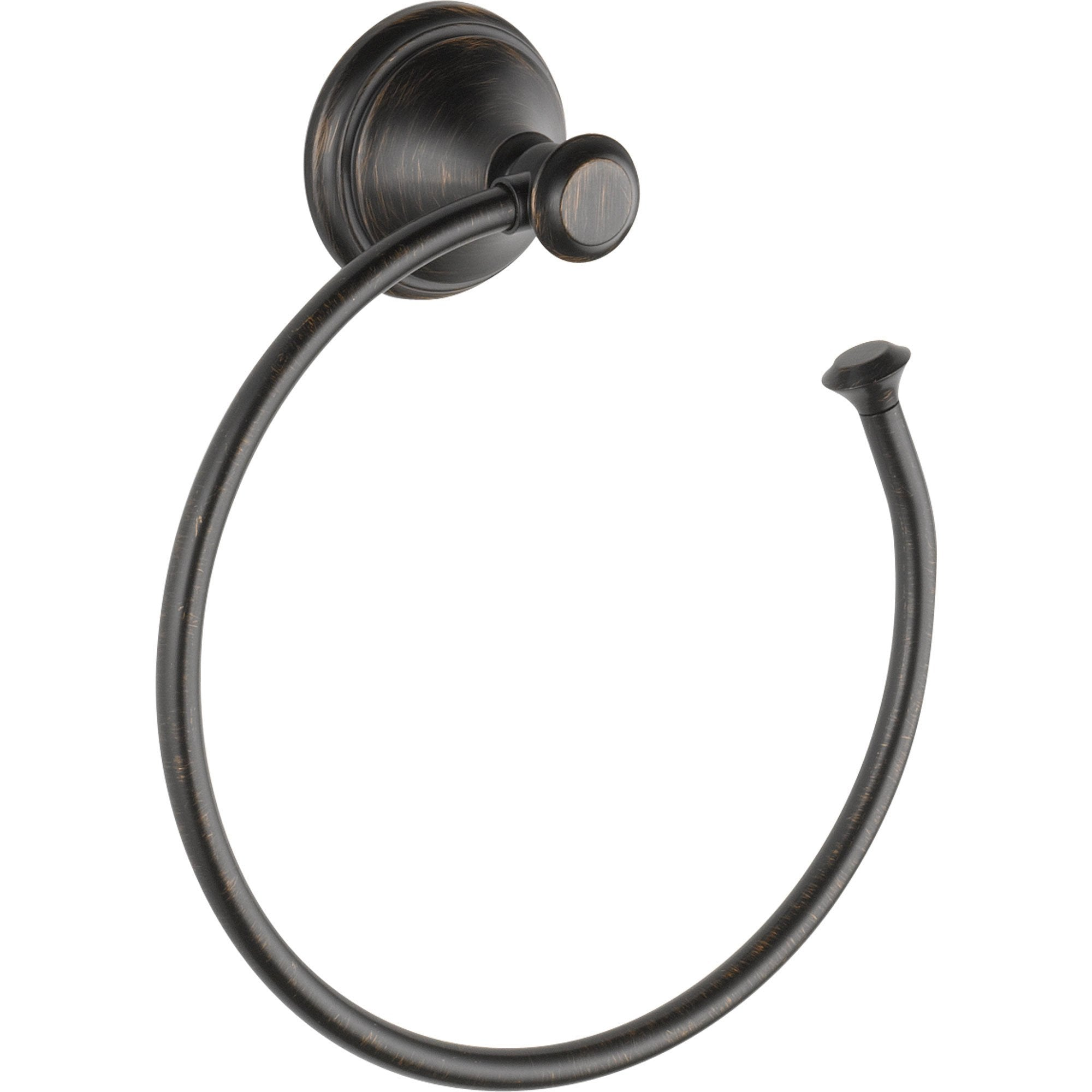 Delta Cassidy Collection Venetian Bronze Open Towel Ring Holder 579564