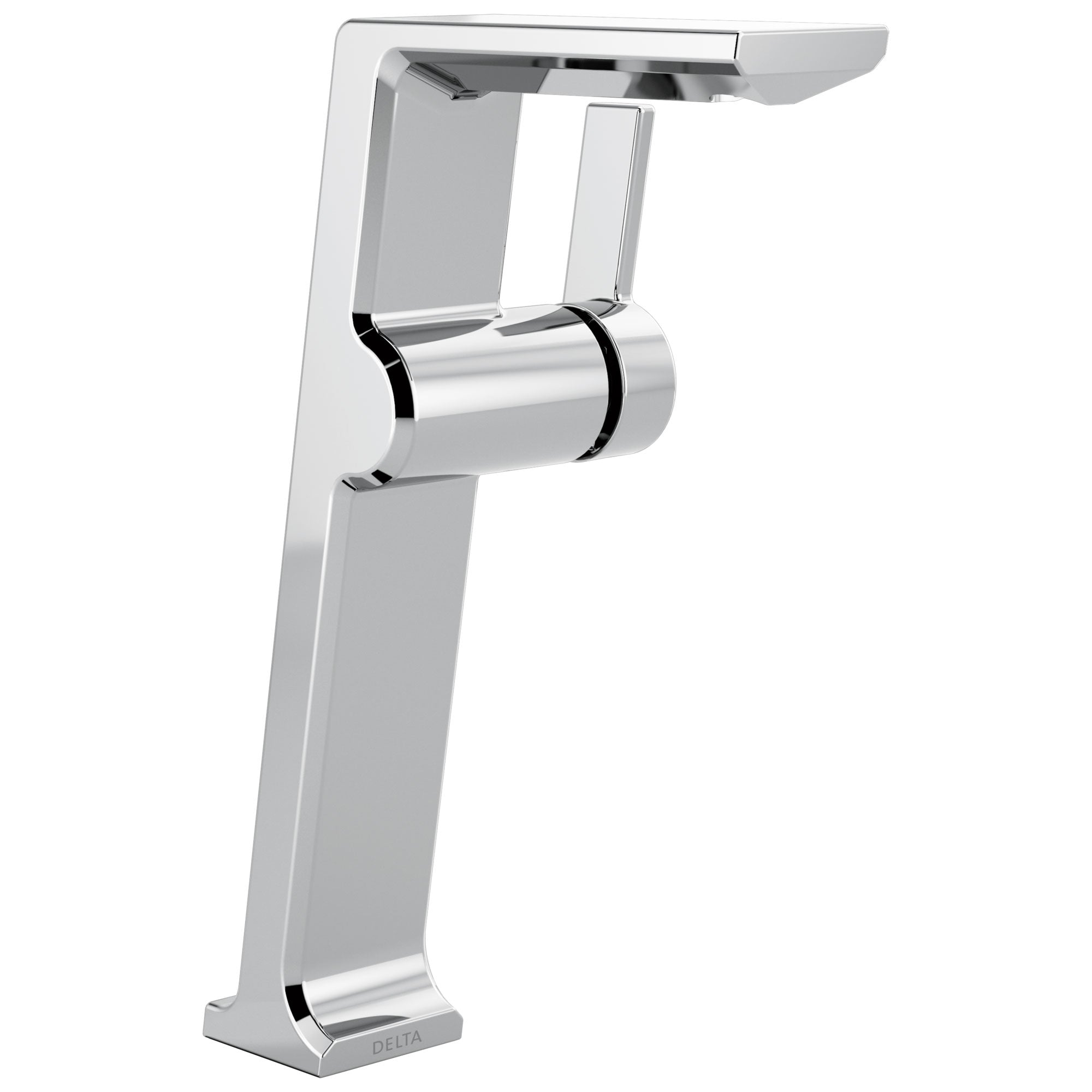 Delta Pivotal Chrome Finish Single Handle Modern Vessel Bathroom Faucet D799DST