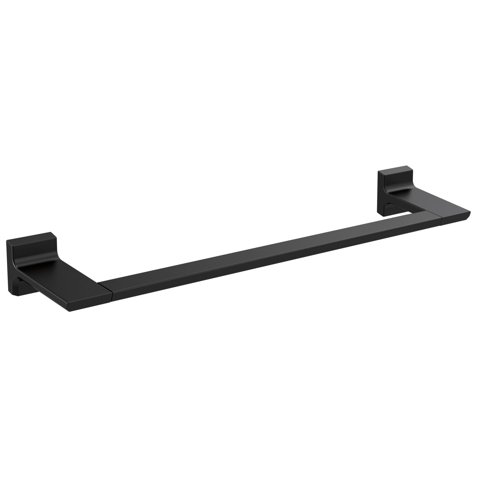 "Delta Pivotal Matte Black Finish 18"" Single Towel Bar D79918BL"