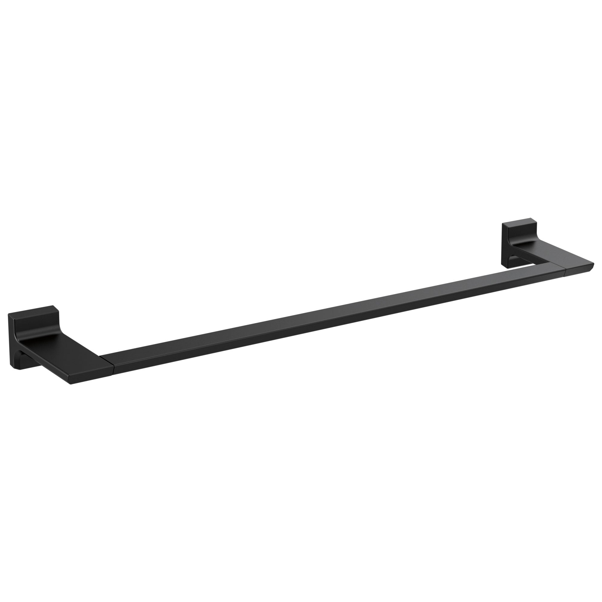 "Delta Pivotal Matte Black Finish 24"" Single Towel Bar D79924BL"