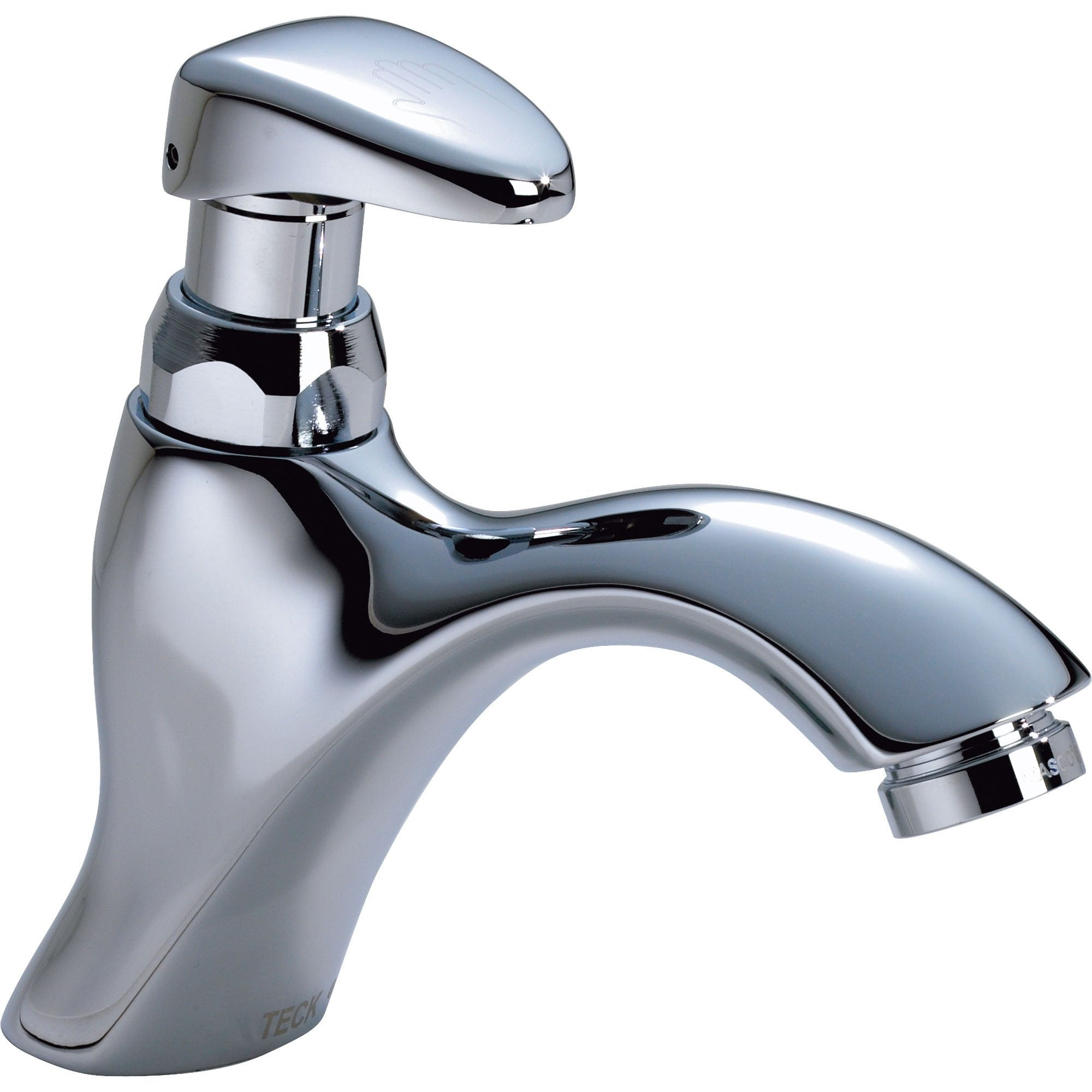 Delta Commercial Mid-Arc Metering Slow-Close Bathroom Faucet in Chrome 608707