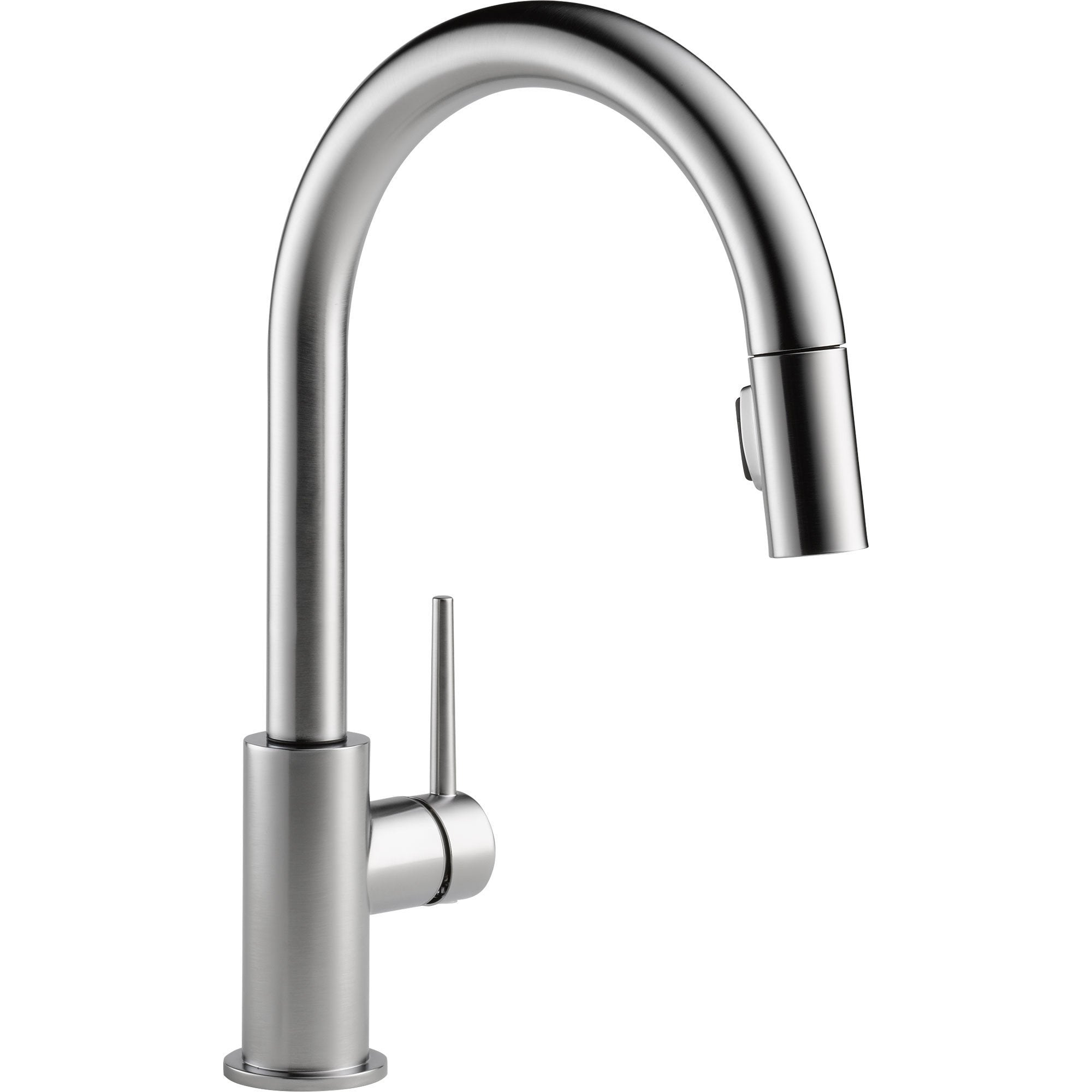 Delta Trinsic Modern Arctic Stainless Pull-Down Sprayer Kitchen Faucet 542658
