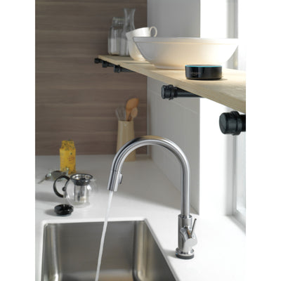 Delta Trinsic Arctic Stainless Steel Finish VoiceIQ Single-Handle Pull-Down Kitchen Faucet with Touch2O Technology D9159TVARDST