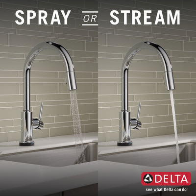 Delta Trinsic Chrome Finish VoiceIQ Single-Handle Pull-Down Kitchen Faucet with Touch2O Technology D9159TVDST