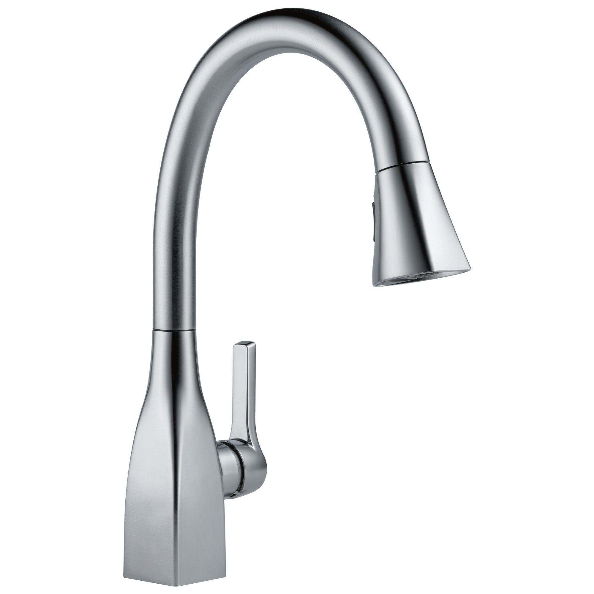 Delta Mateo Collection Arctic Stainless Steel Finish Modern Single Lev Faucetlist Com