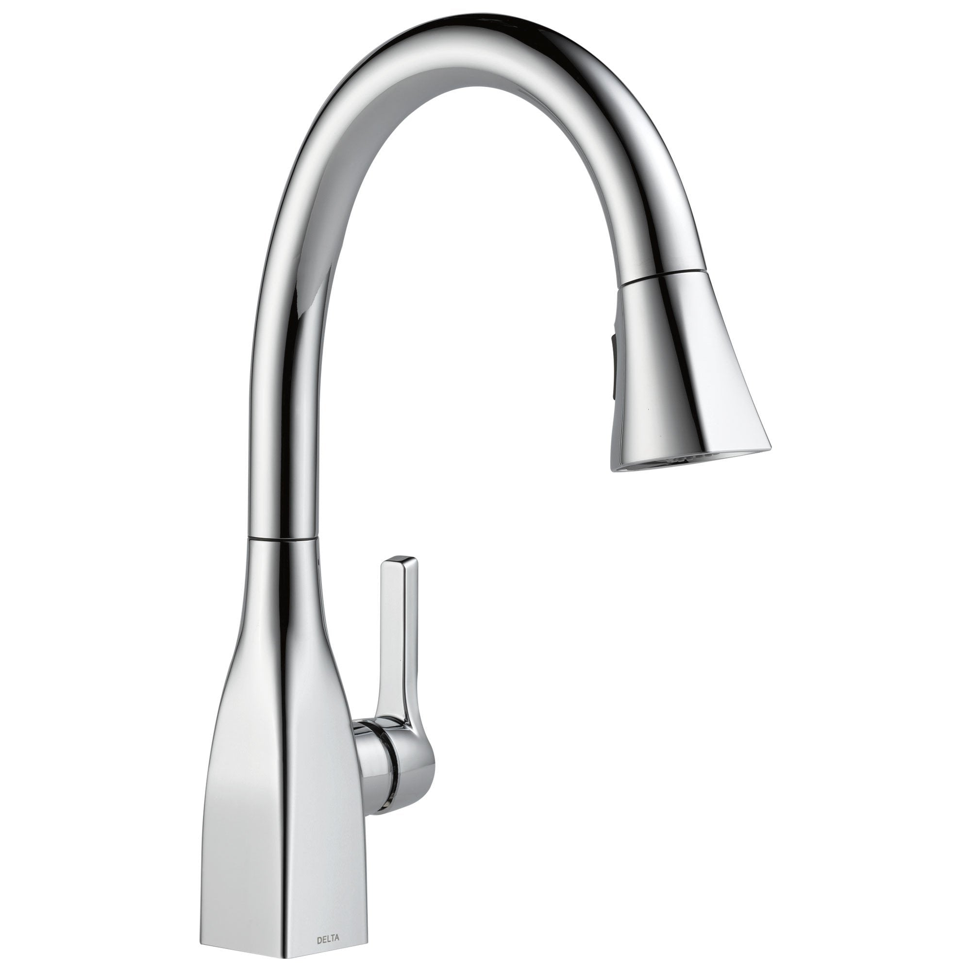 Delta Mateo Collection Chrome Finish Modern Single Lever Handle Pull-Down Kitchen Sink Faucet 726272