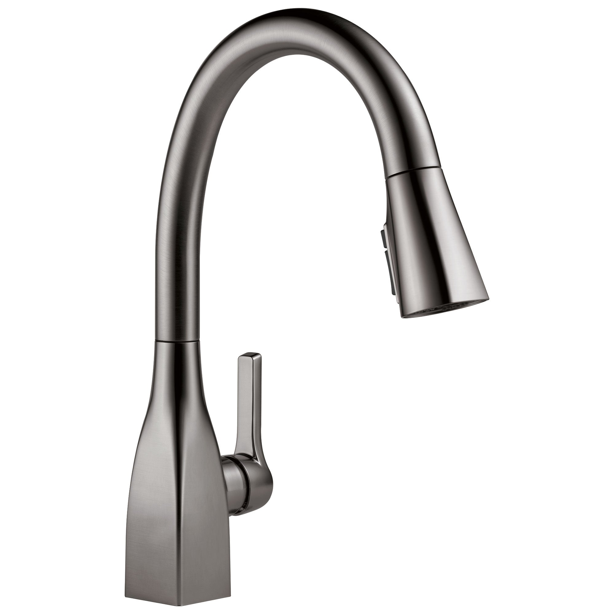 Delta Mateo Black Stainless Steel Finish Single Handle Pull-Down Kitchen Faucet with ShieldSpray Technology D9183KSDST
