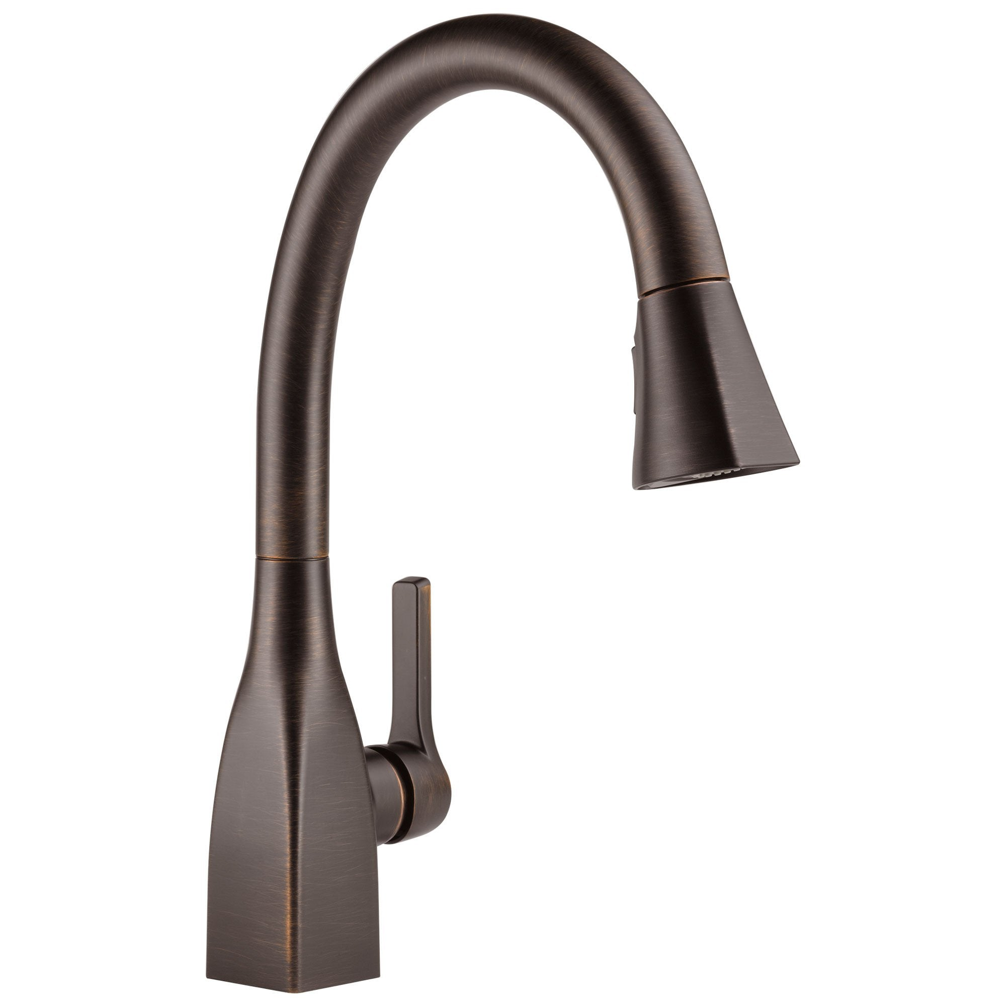 Delta Mateo Collection Venetian Bronze Finish Modern Single Lever Handle Pull-Down Kitchen Sink Faucet 726273