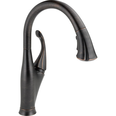 Delta Venetian Bronze Addison Single Handle Water Efficient Pull-Down Kitchen Faucet, Soap Dispenser, and Pull-Out Bar / Prep Faucet Package D079CR