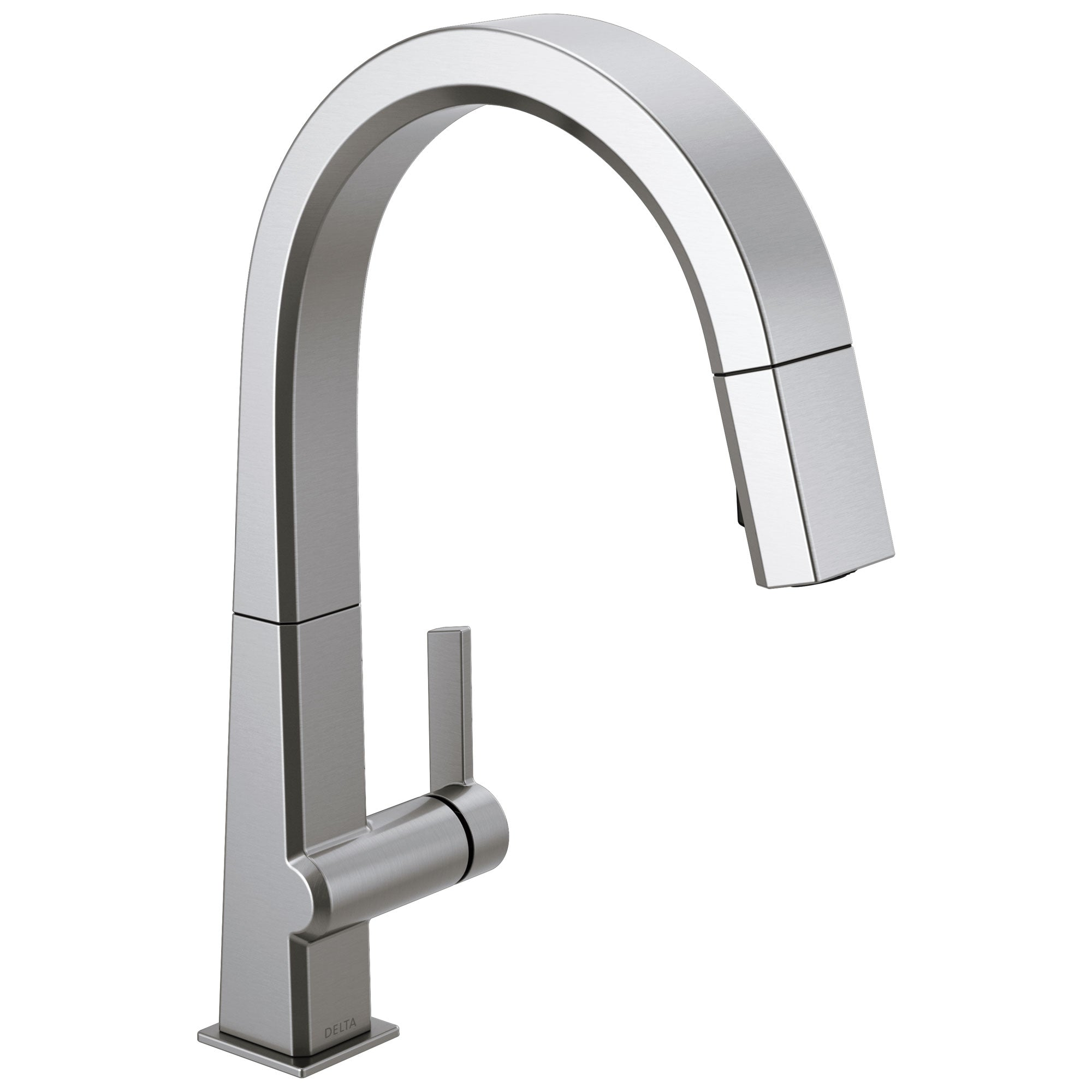Delta Pivotal Arctic Stainless Steel Finish Single Handle Pull Down Kitchen Faucet D9193ARDST