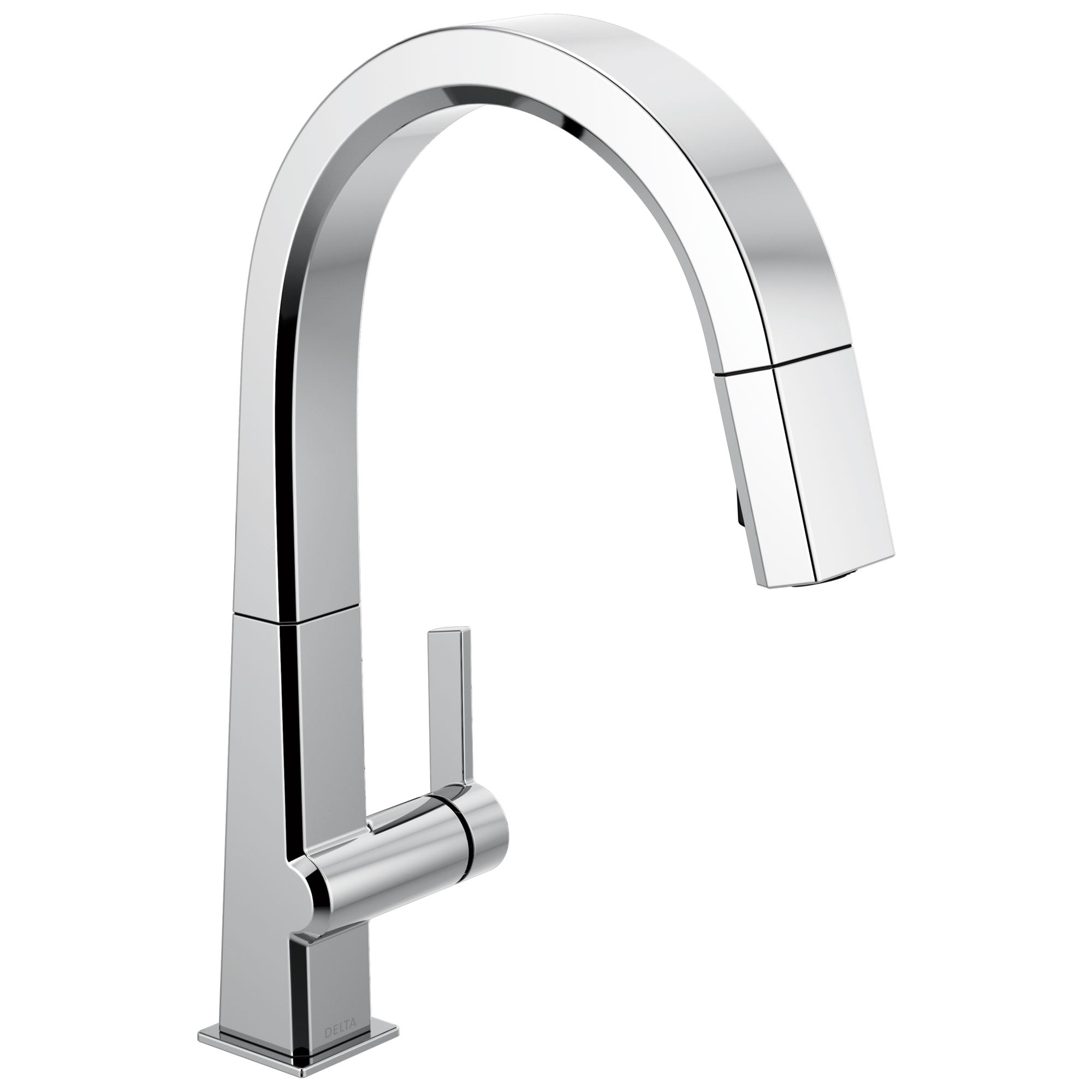 Delta Pivotal Chrome Finish Single Handle Pull Down Kitchen Faucet D9193DST