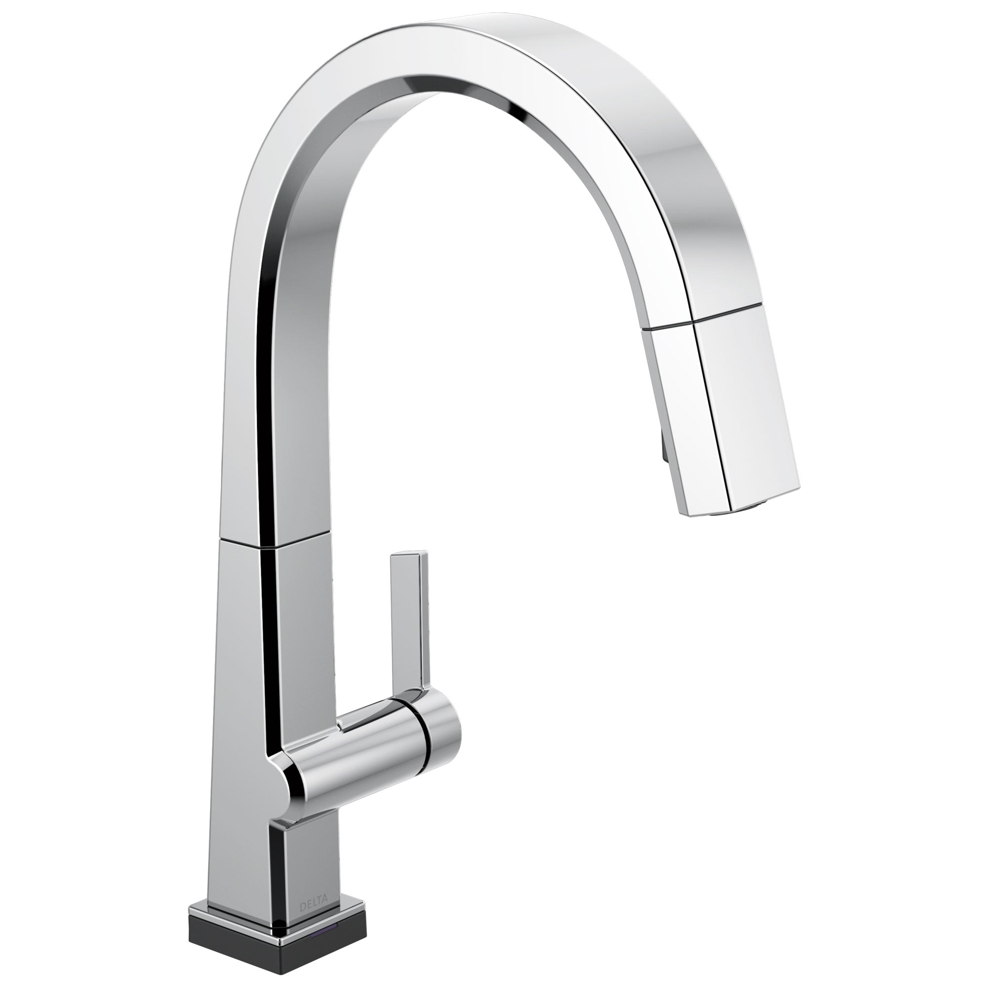 Delta Pivotal Chrome Finish Single Handle Pull Down Kitchen Faucet with Touch2O Technology D9193TDST