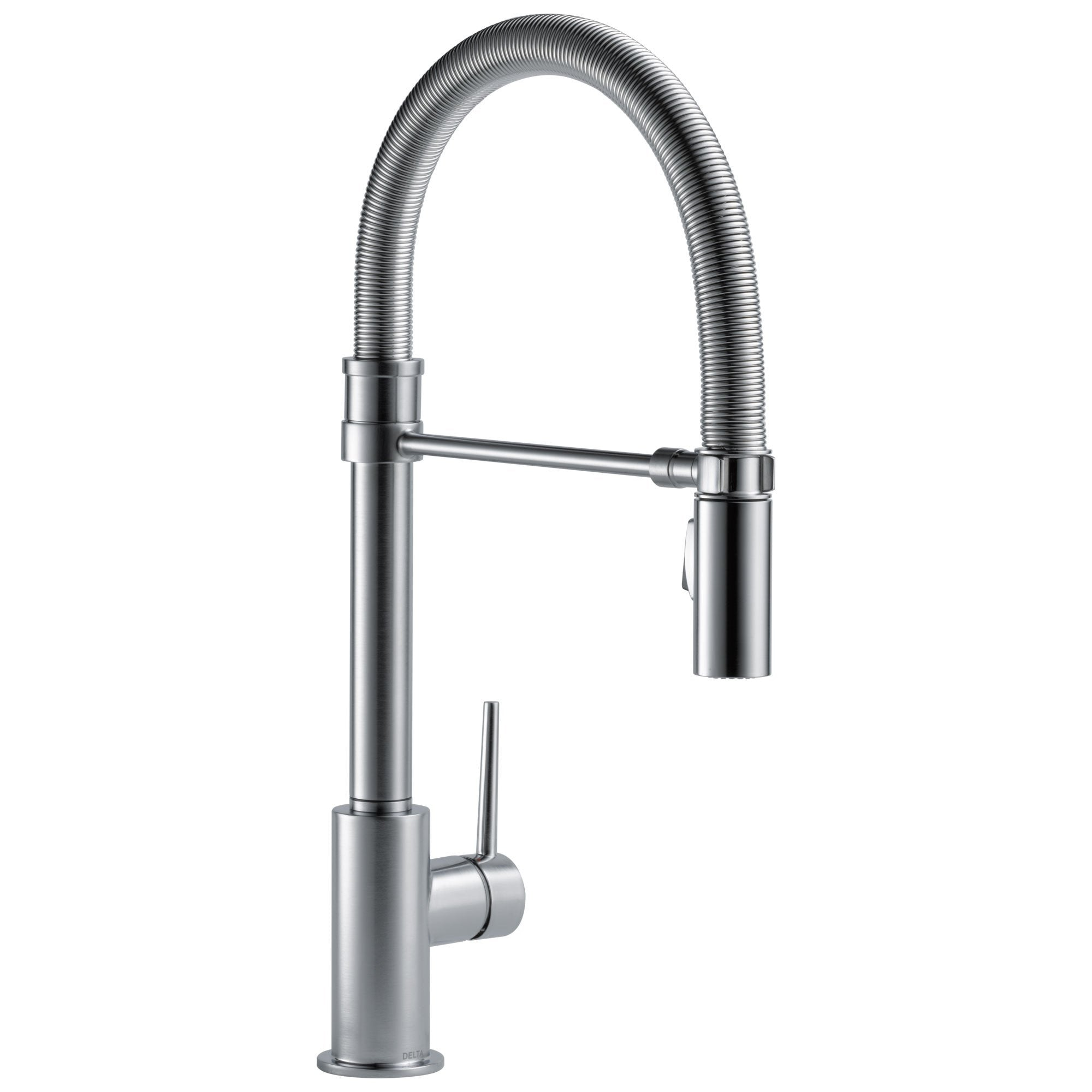 Delta Trinsic Collection Arctic Stainless Steel Finish Single Handle Pull-Down Kitchen Sink Faucet With Spring Spout 739274