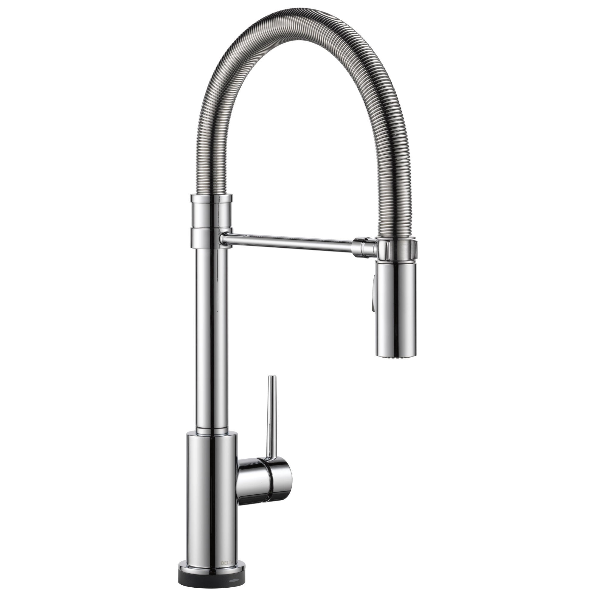 Delta Trinsic Collection Chrome Finish Single Handle Pull-Down Spring Spout Electronic Kitchen Sink Faucet with Touch2O Technology 739277
