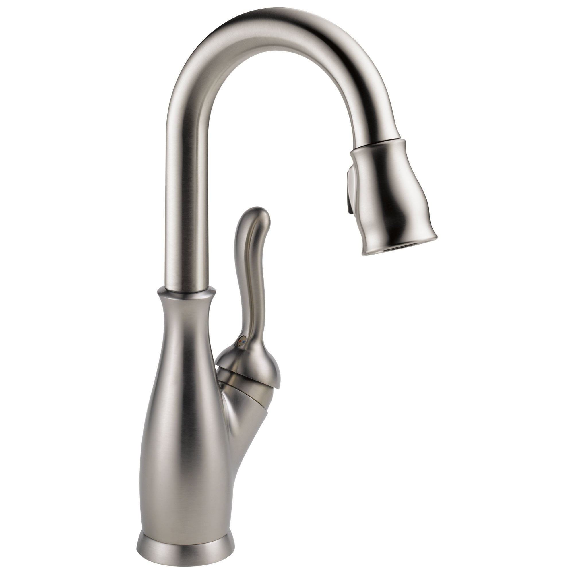 Delta Leland Collection Stainless Steel Finish Single Handle One Hole Swivel Spout Pull-Down Bar / Prep Faucet D9678SPDST