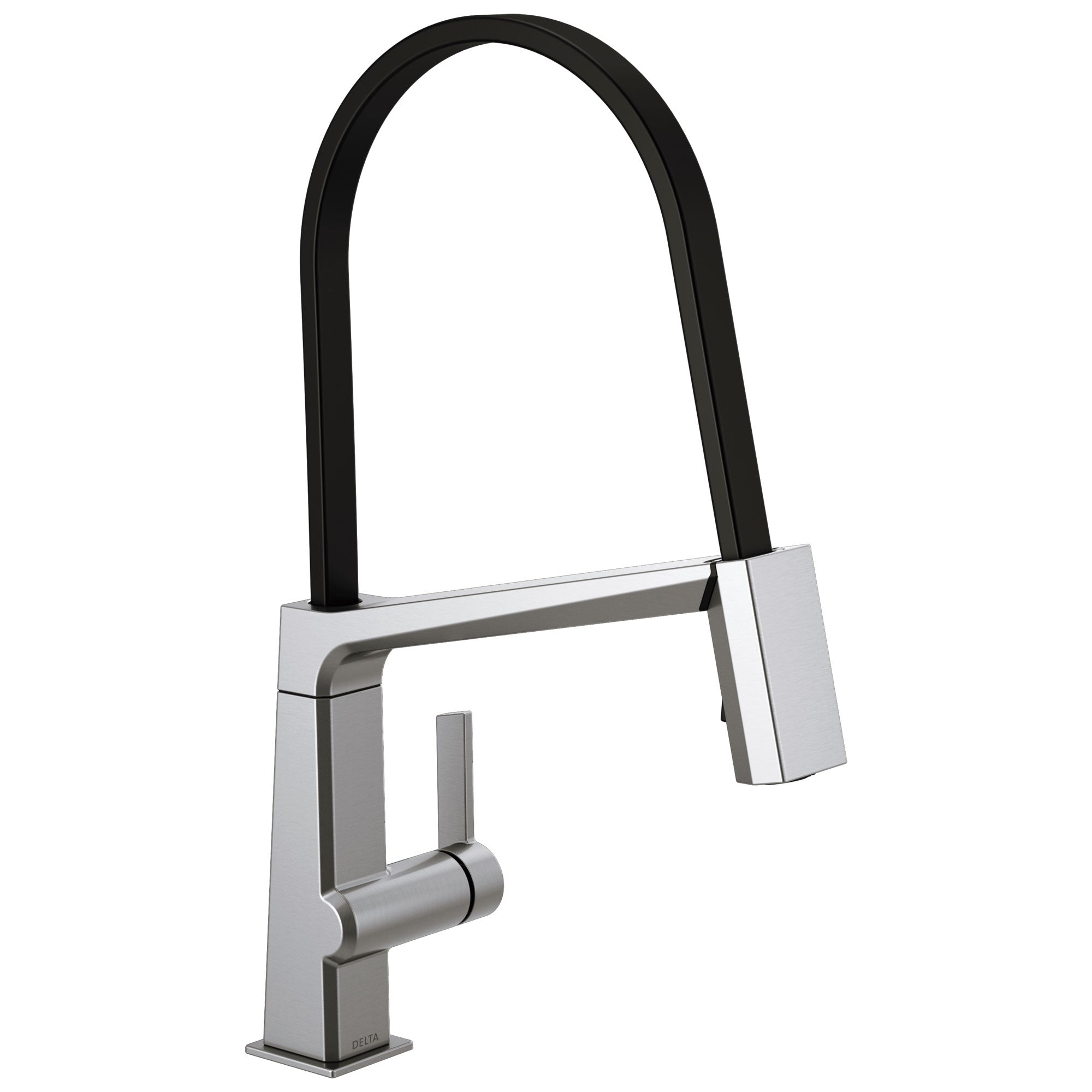 Delta Pivotal Arctic Stainless Steel Finish Single Handle Exposed Hose Kitchen Faucet D9693ARDST