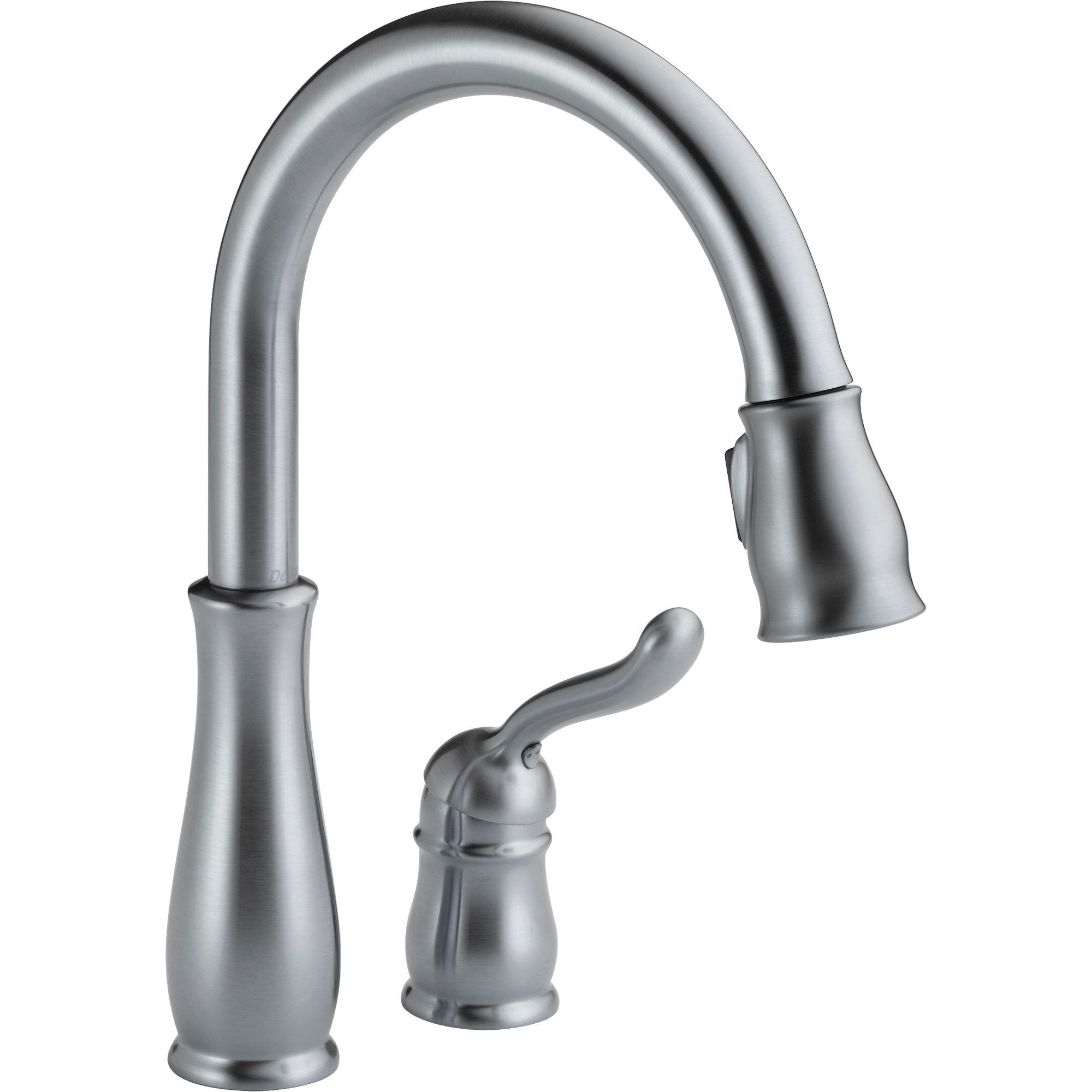Delta Leland Arctic Stainless Two Hole Pull-Down Sprayer Kitchen Faucet 610458