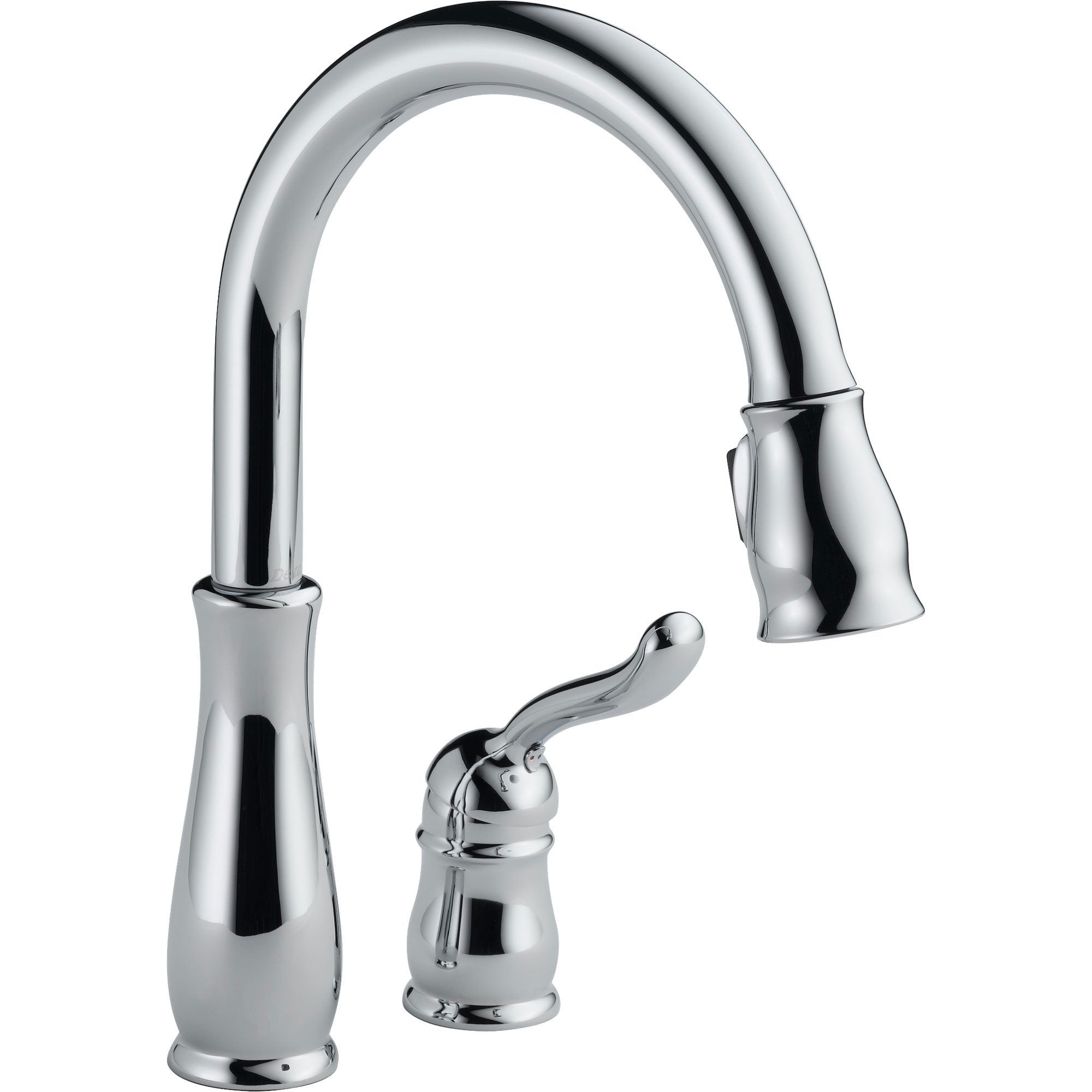 Delta Leland Chrome Water Efficient Pull-Down Sprayer Kitchen Faucet 495535