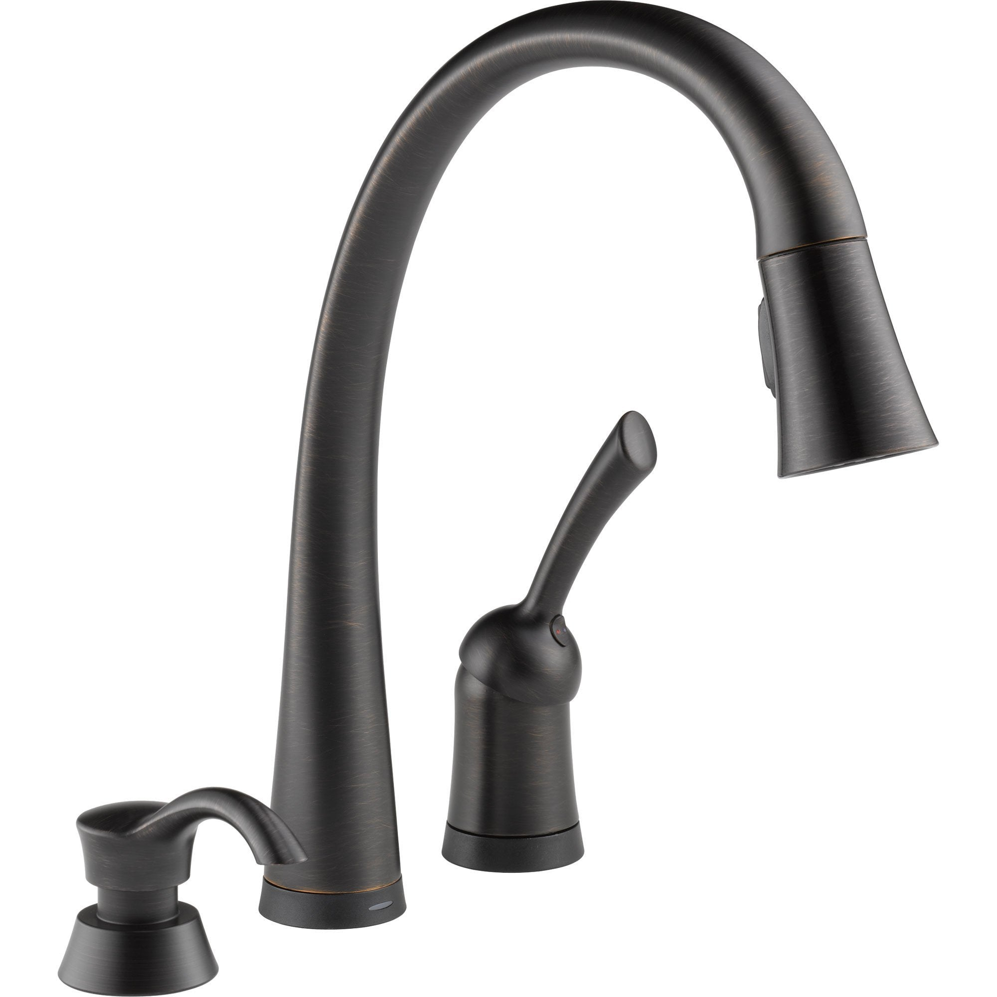 Delta Pilar Touch2O Venetian Bronze Pull-Down Sprayer Faucet w/Dispenser 608667