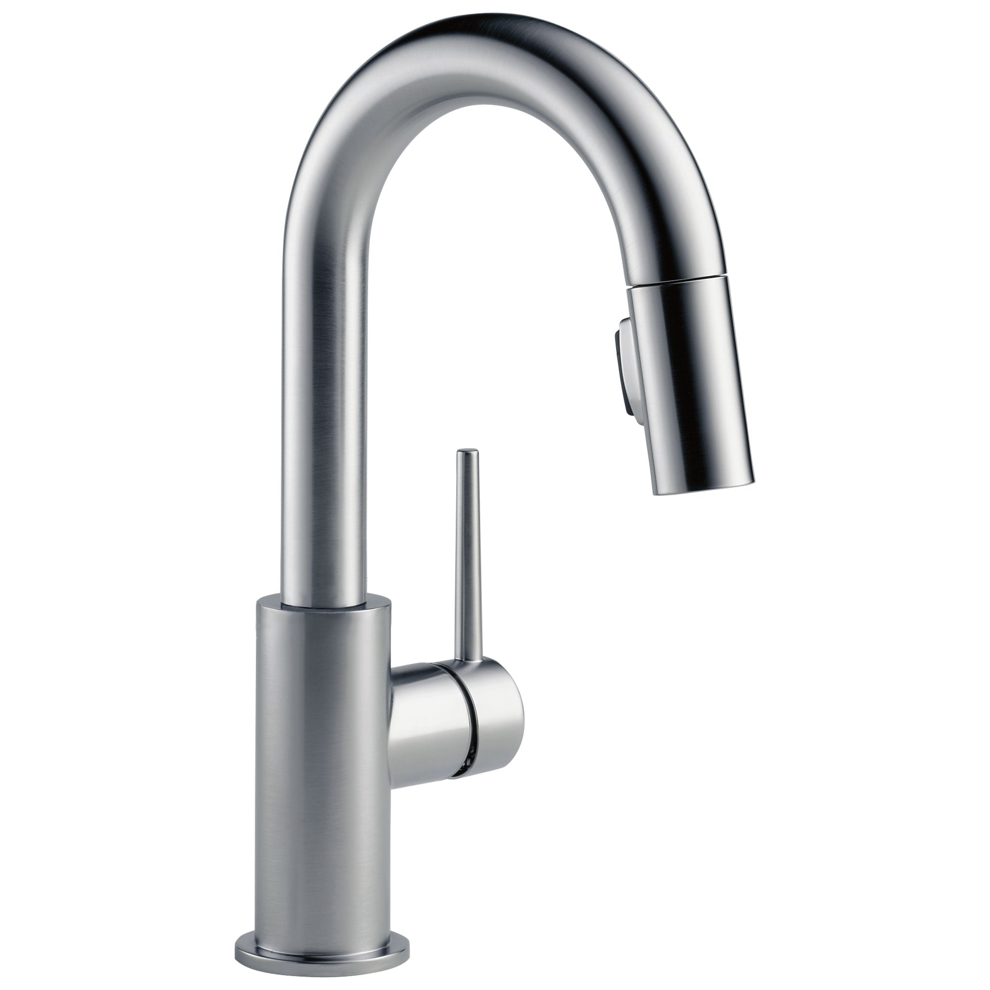 Delta Trinsic Arctic Stainless Steel Finish Single Handle Pull-Down Bar/Prep Kitchen Limited Swivel D9959ARLSDST
