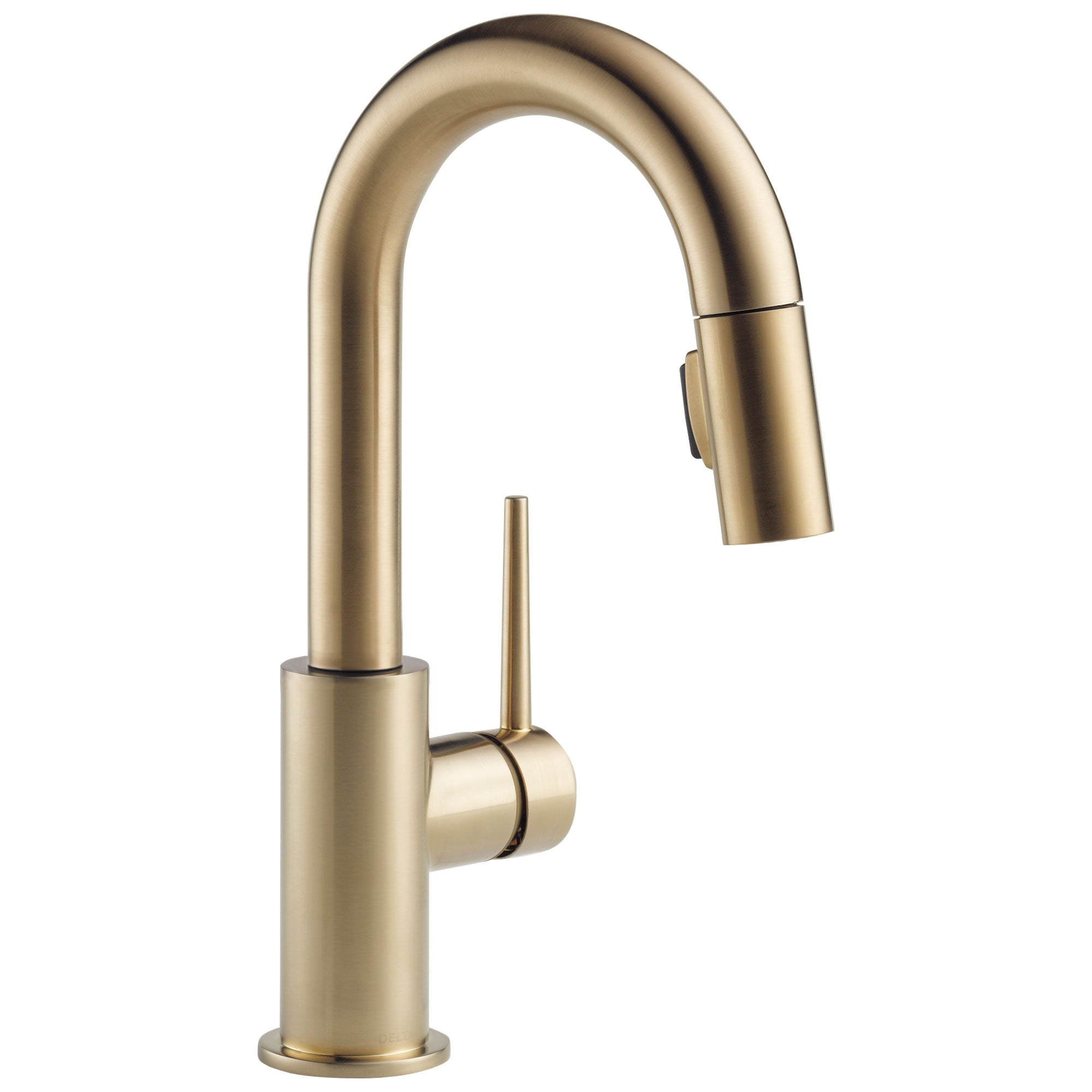 Delta Trinsic Champagne Bronze Finish Single Handle Pull-Down Bar/Prep Kitchen Limited Swivel D9959CZLSDST