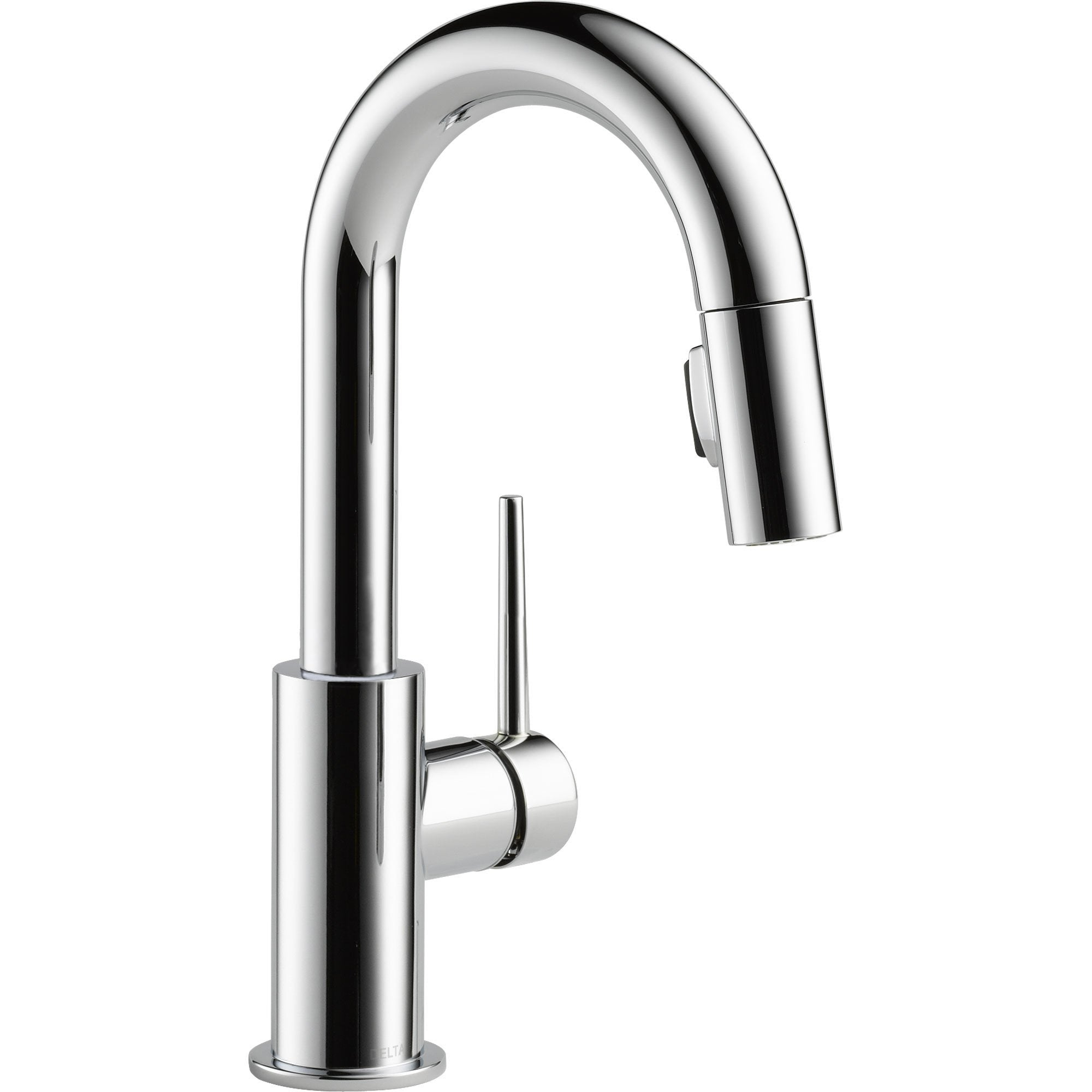 Delta Trinsic Modern Chrome Single Handle Pull-Down Sprayer Bar Faucet 542656