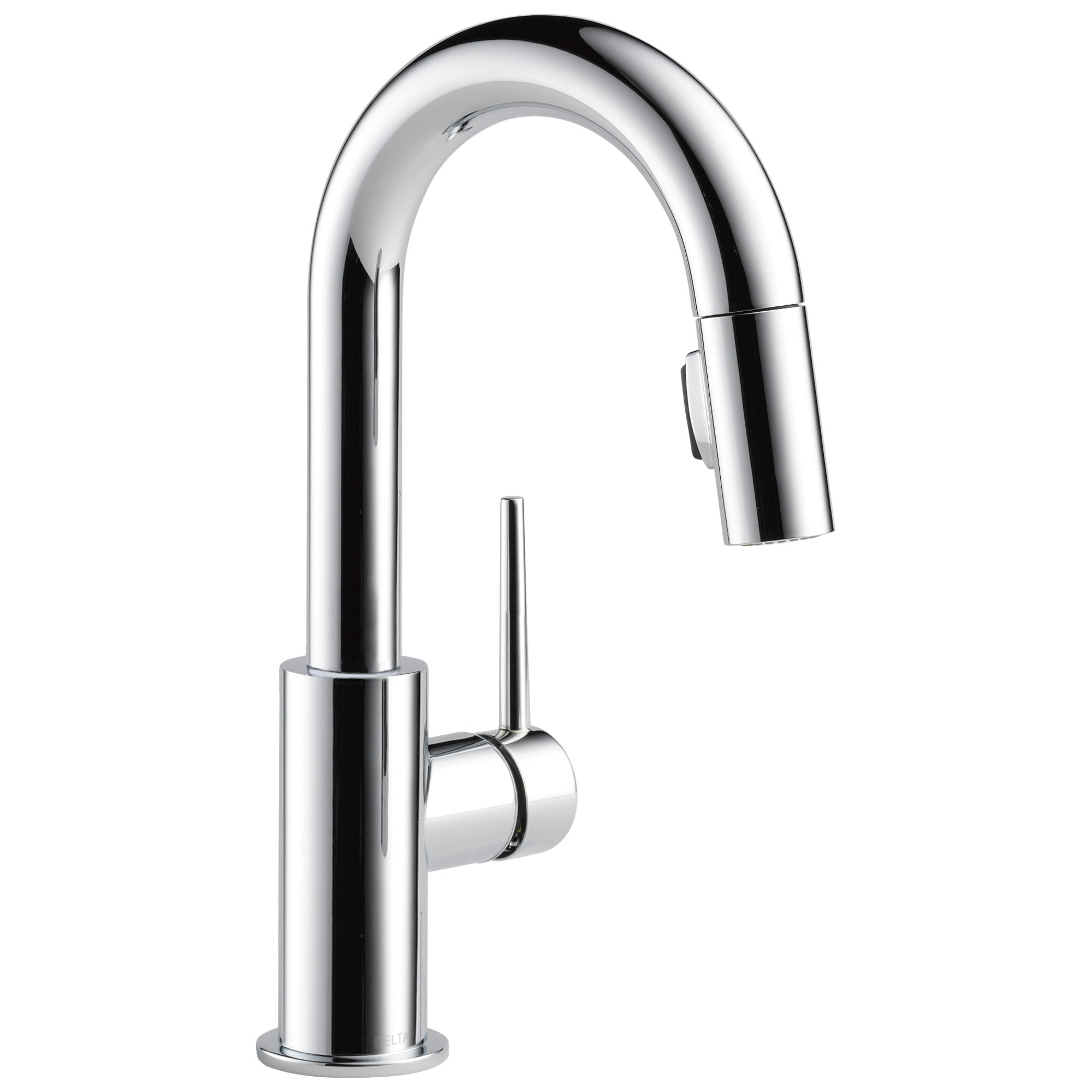 Delta Trinsic Chrome Finish Single Handle Pull-Down Bar/Prep Kitchen Limited Swivel D9959LSDST